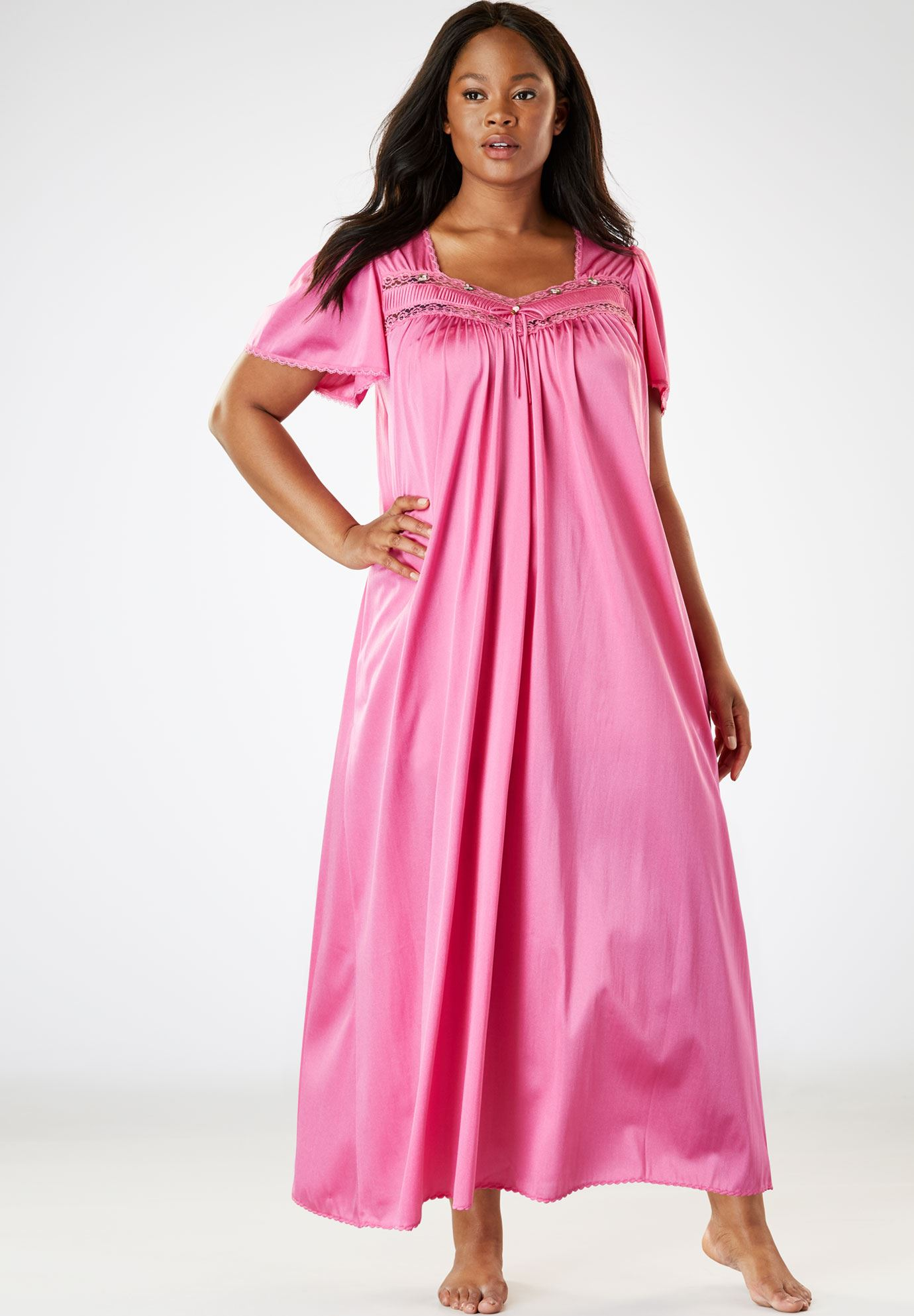 Full-Sweep Nightgown by Only Necessities® | Plus Size Sleep Gowns ...