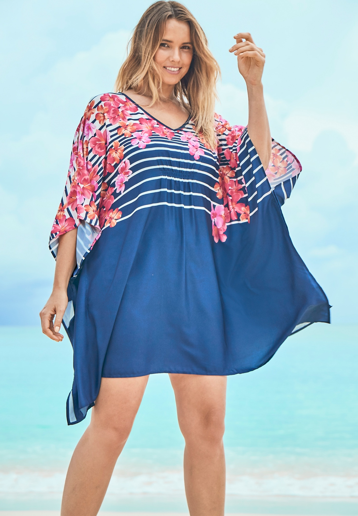 Cold-Shoulder Cover Up by Swim 365,