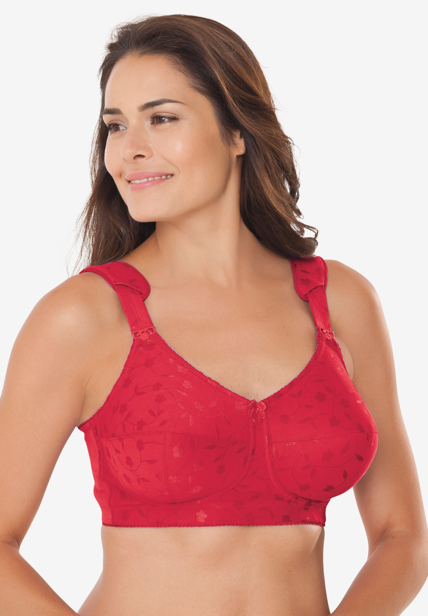 Elila® Jacquard Wireless Bra #1305,