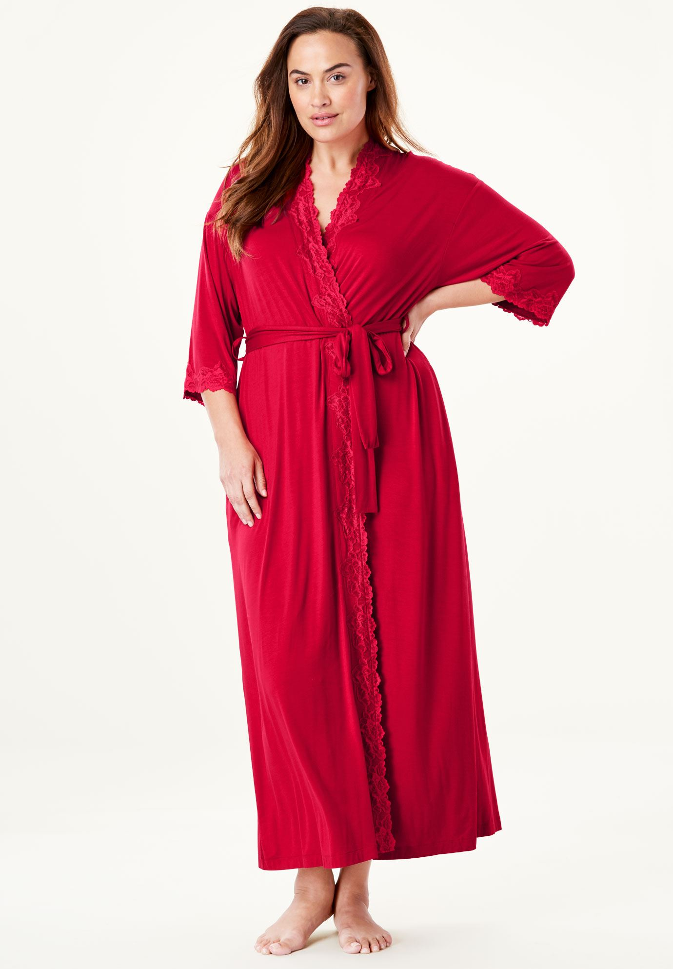 Long Knit Robe by Amoureuse®,