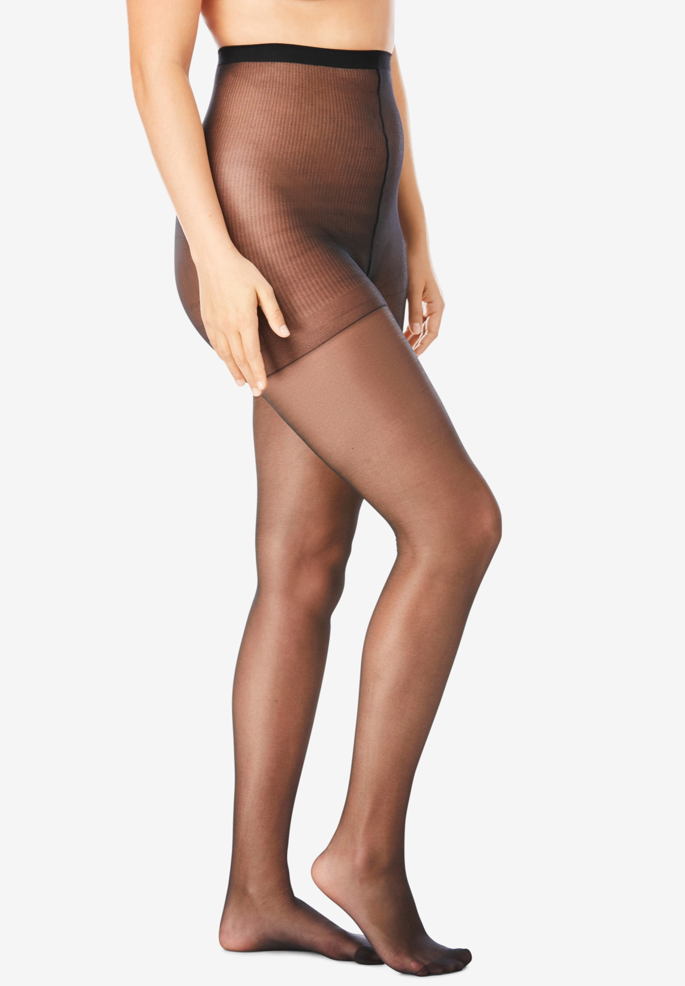 7dfeae9d0cb75 2-Pack Sheer Tights by Comfort Choice®| Plus Size Hosiery & Socks ...