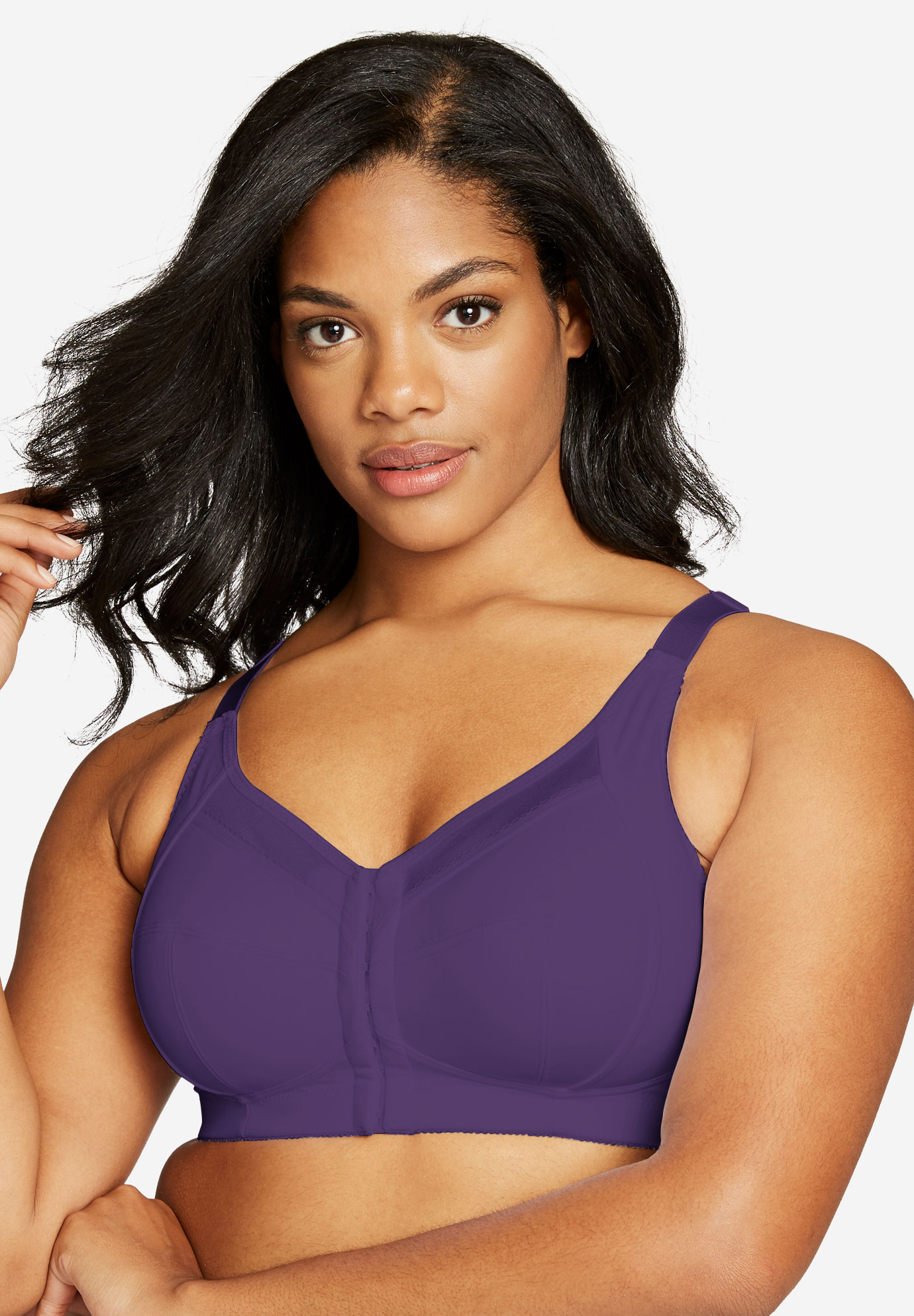Satin-Trim Posture Bra by Comfort Choice®,