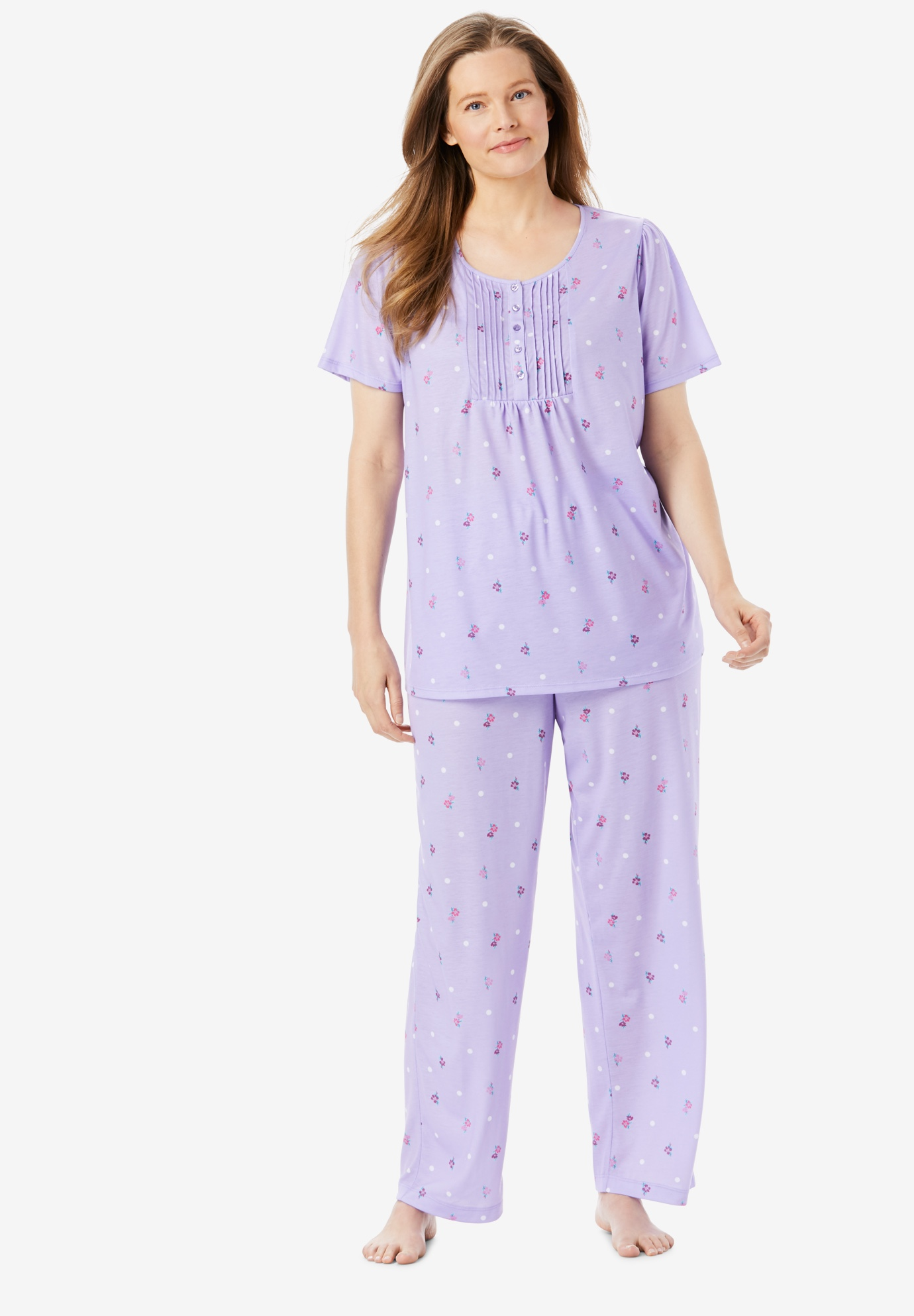 Dreams & Co® Pinktuck Cooling PJ Set,