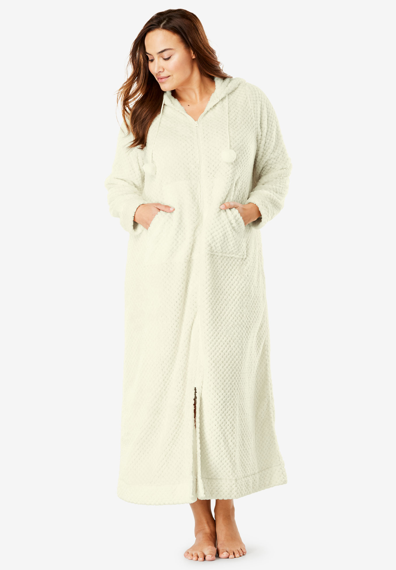 253ea8a86b70 Plush Hooded Long Robe by Dreams   Co.®