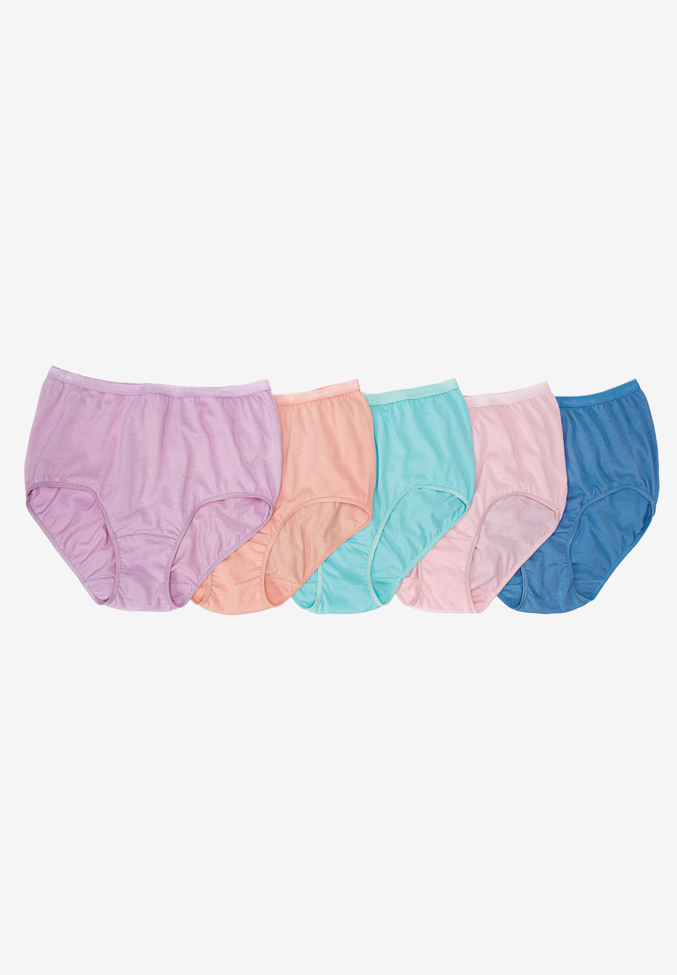 1eb31f187 5-Pack Pure Cotton Full-Cut Brief by Comfort Choice®