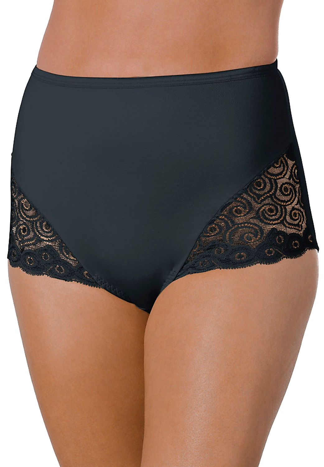 Brief for moderate control, with lace inset, 2 pack by Bali®,