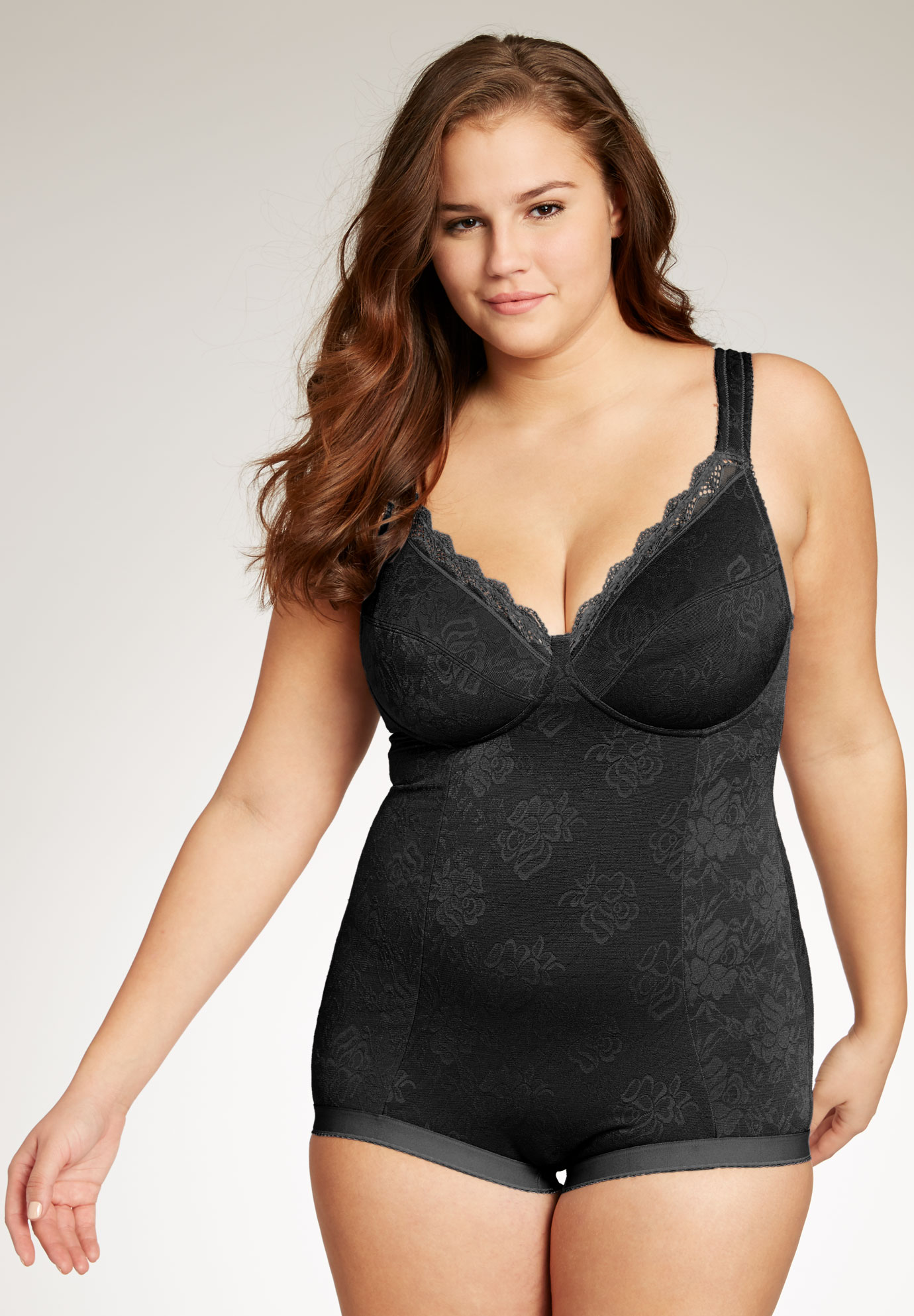Lace Body Briefer By Secret Solutions Curvewear