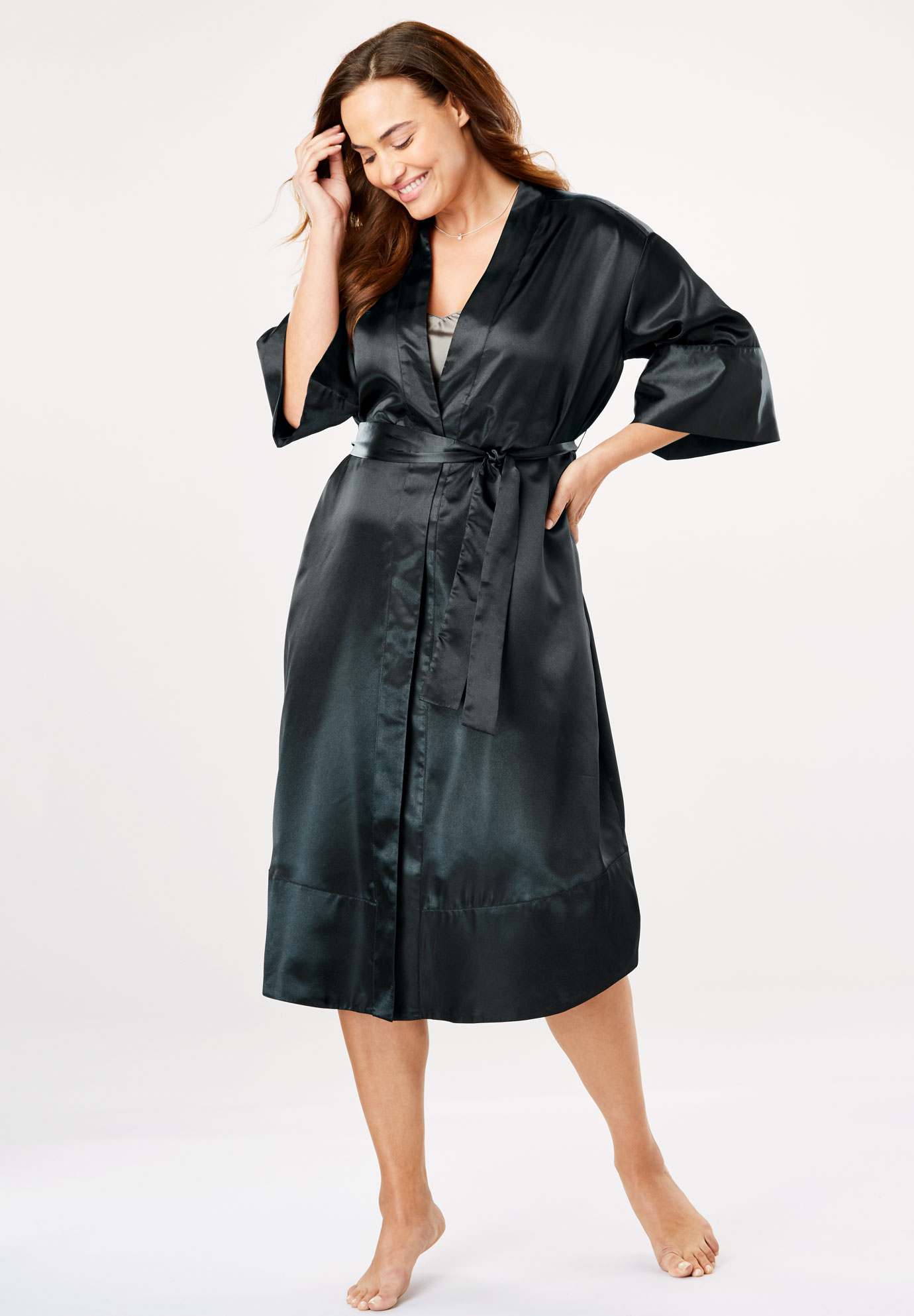 3a1fb877055dc The Luxe Satin Belted Kimono by Amoureuse®