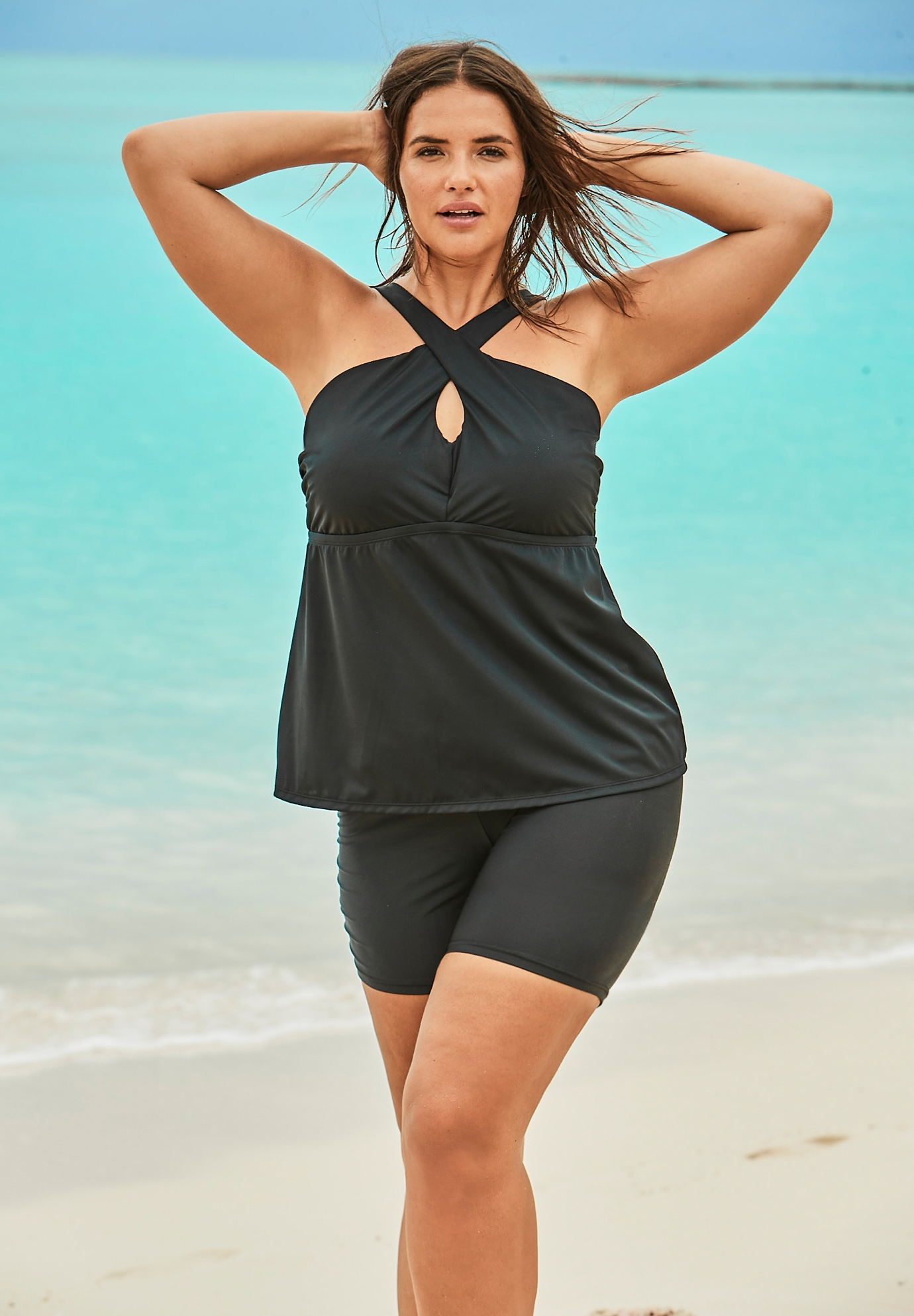 Crossover Tankini Top by Swim 365,
