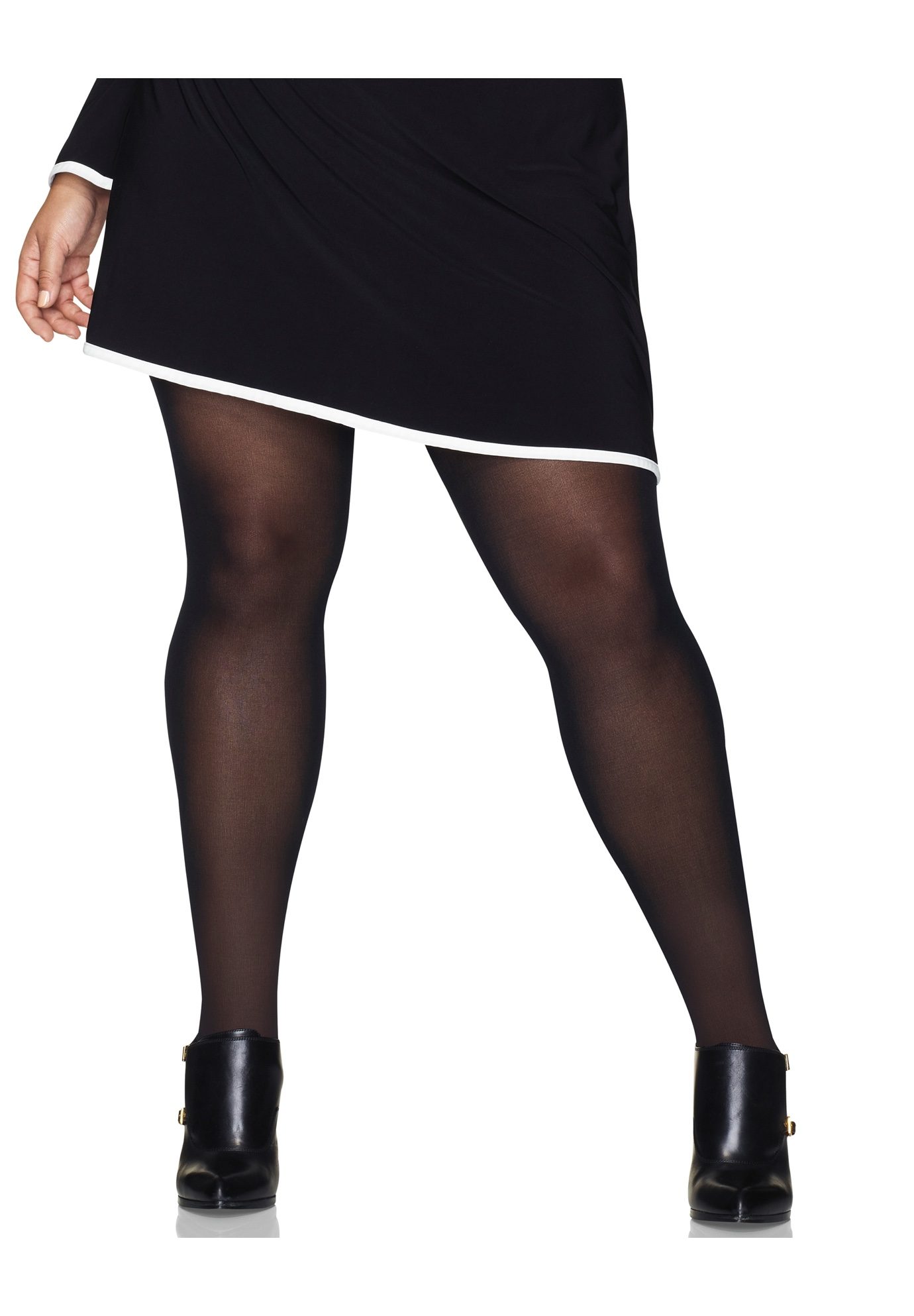 Curves Control Top Opaque Tights,