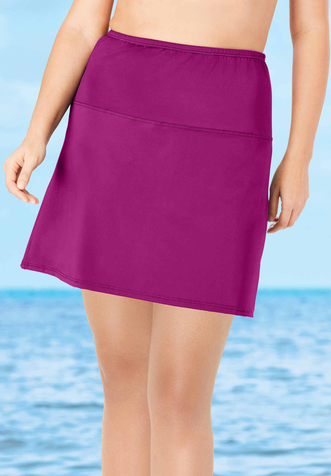High-Waisted Swim Skirt with Built-In Brief by Swim 365,