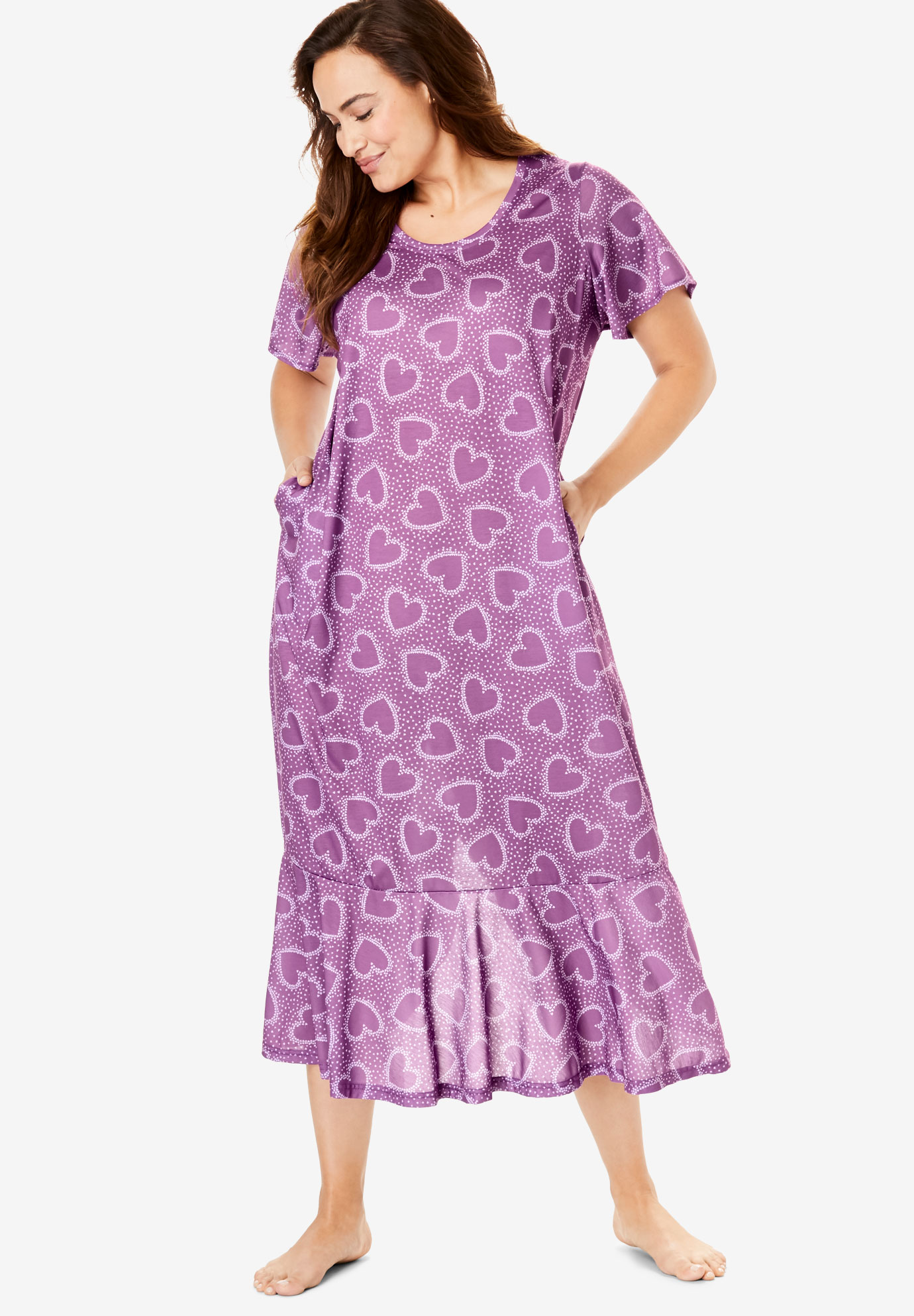 Cool Dreams Flounced Nightgown by Only Necessities®,