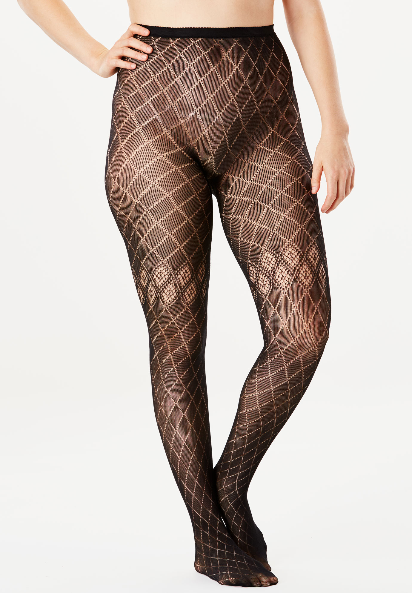 6e1f38603580d 2-Pack Patterned Tights| Plus Size Hosiery & Socks | Jessica London