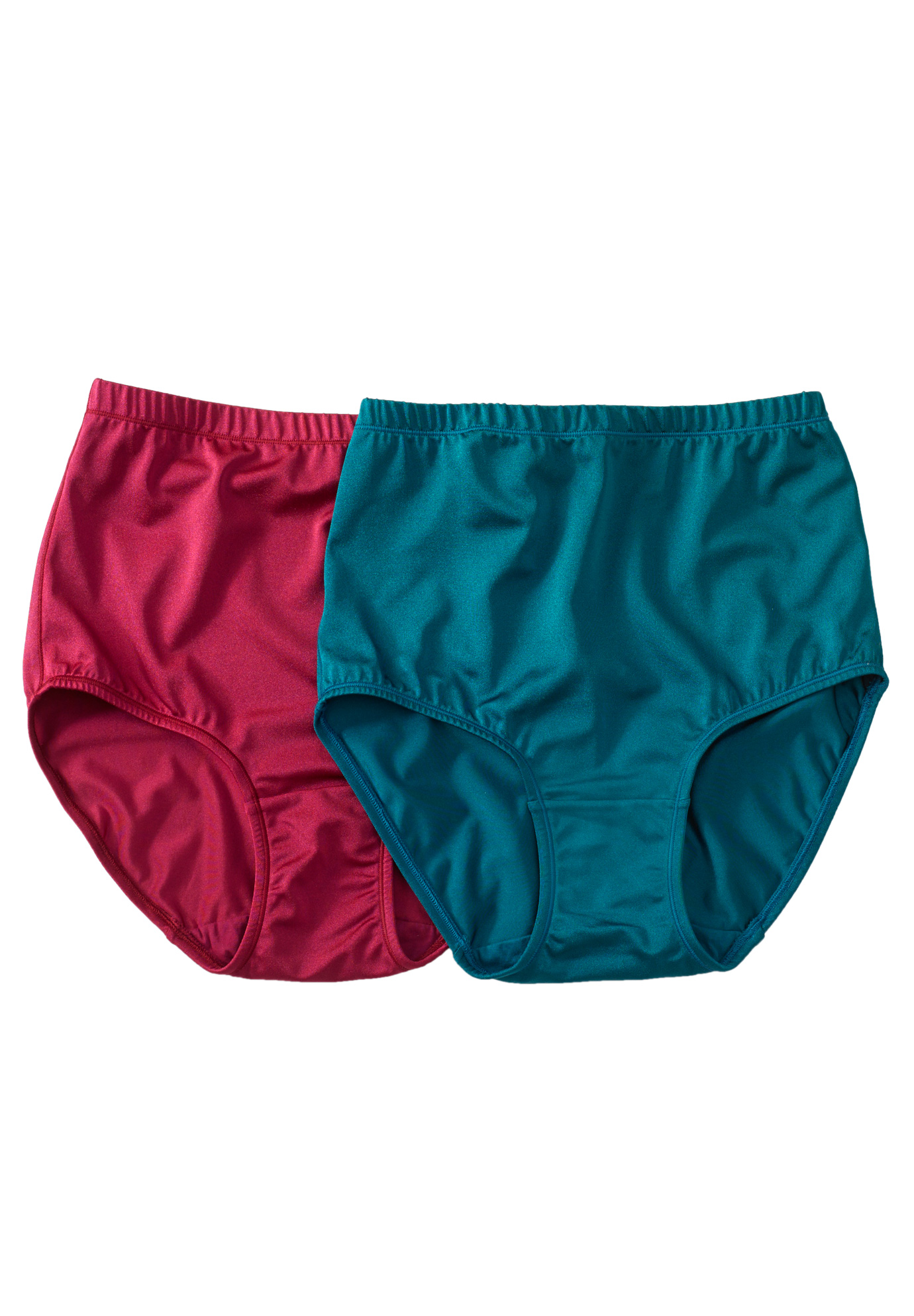 2-Pack Satin Stretch Brief by Comfort Choice®, JEWEL ASSORTED