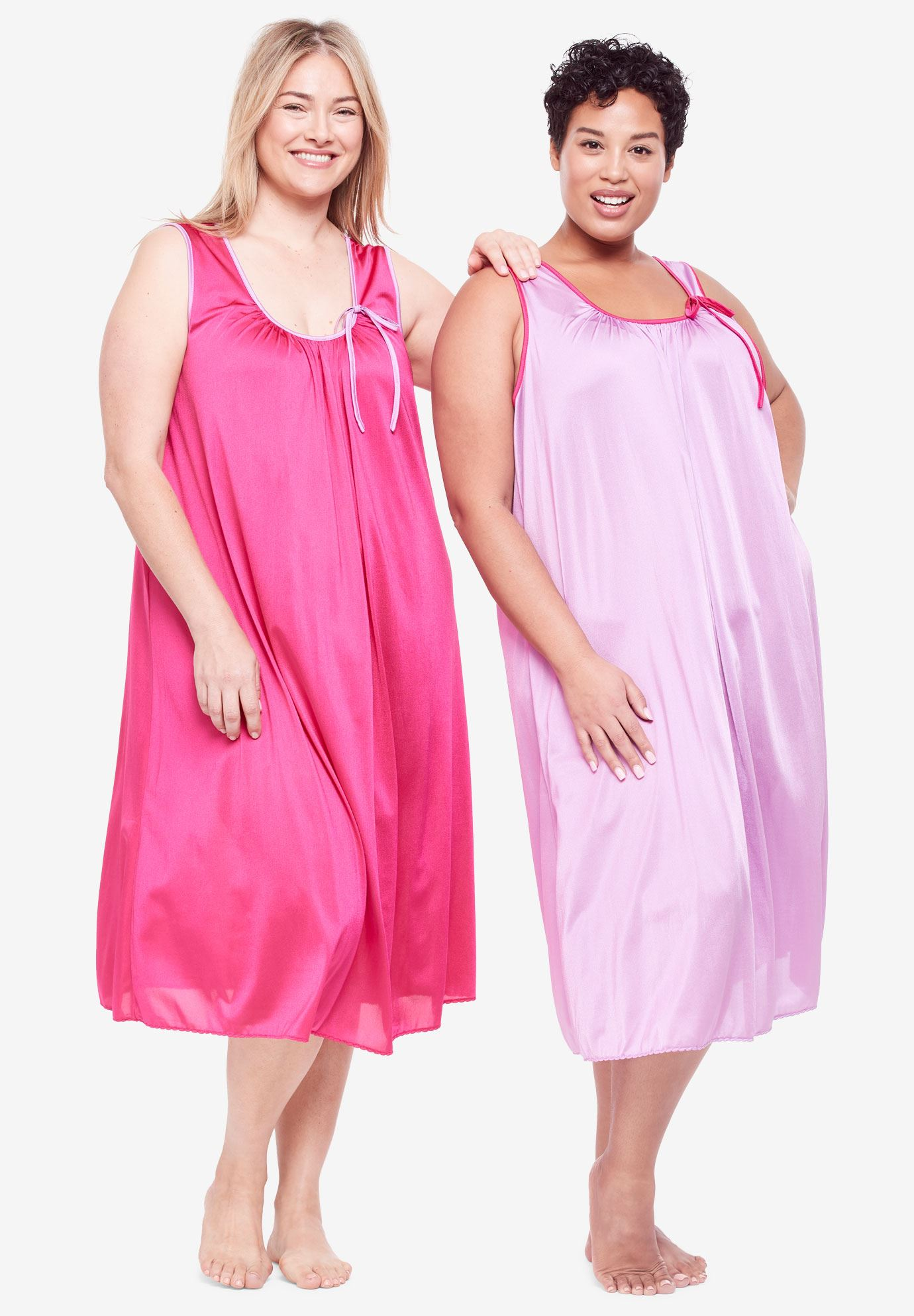 2-Pack Sleeveless Nightgown by Only Necessities® | Plus Size Sleep ...