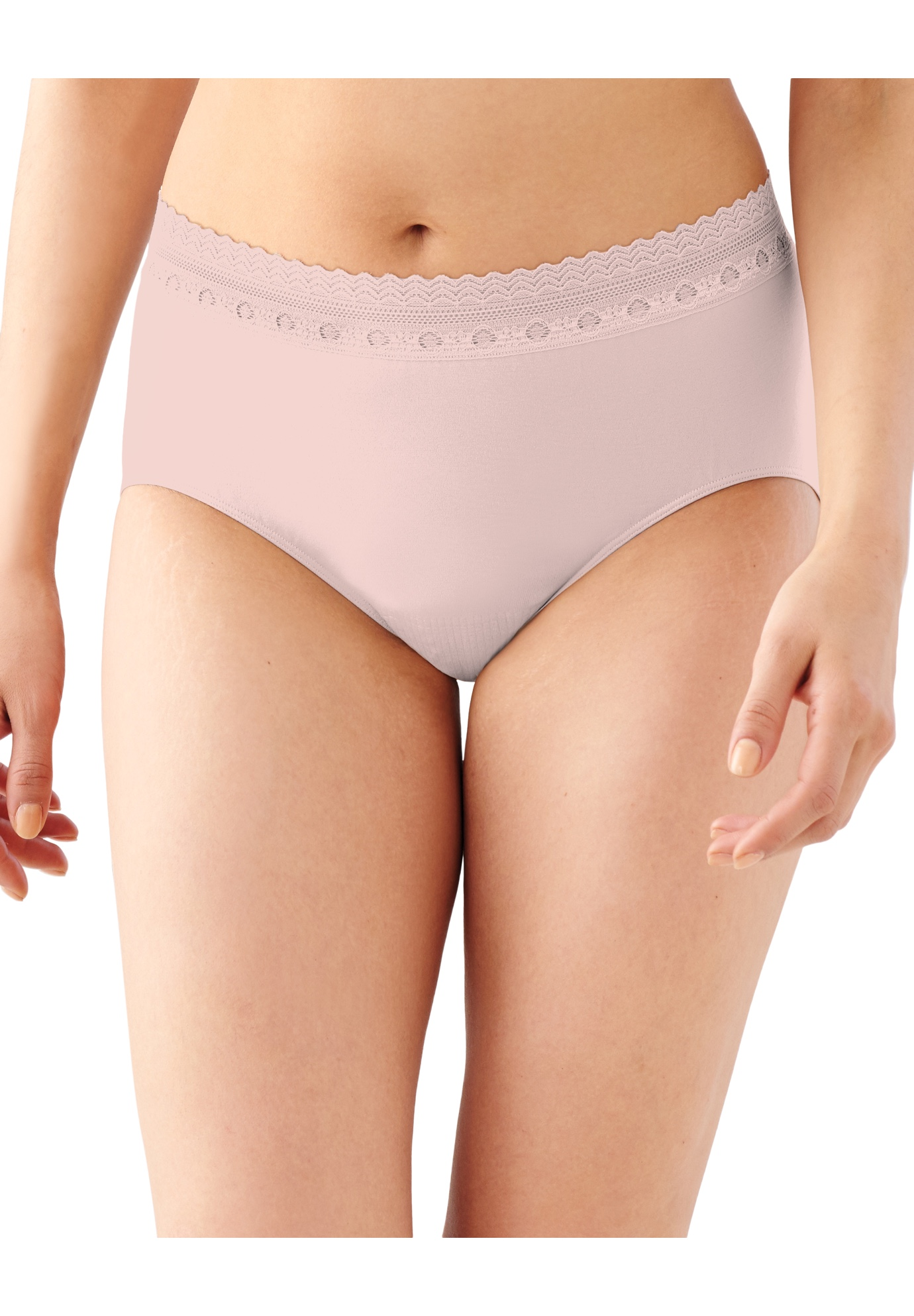 Comfort Revolution Brief , SHEER PALE PINK LACE