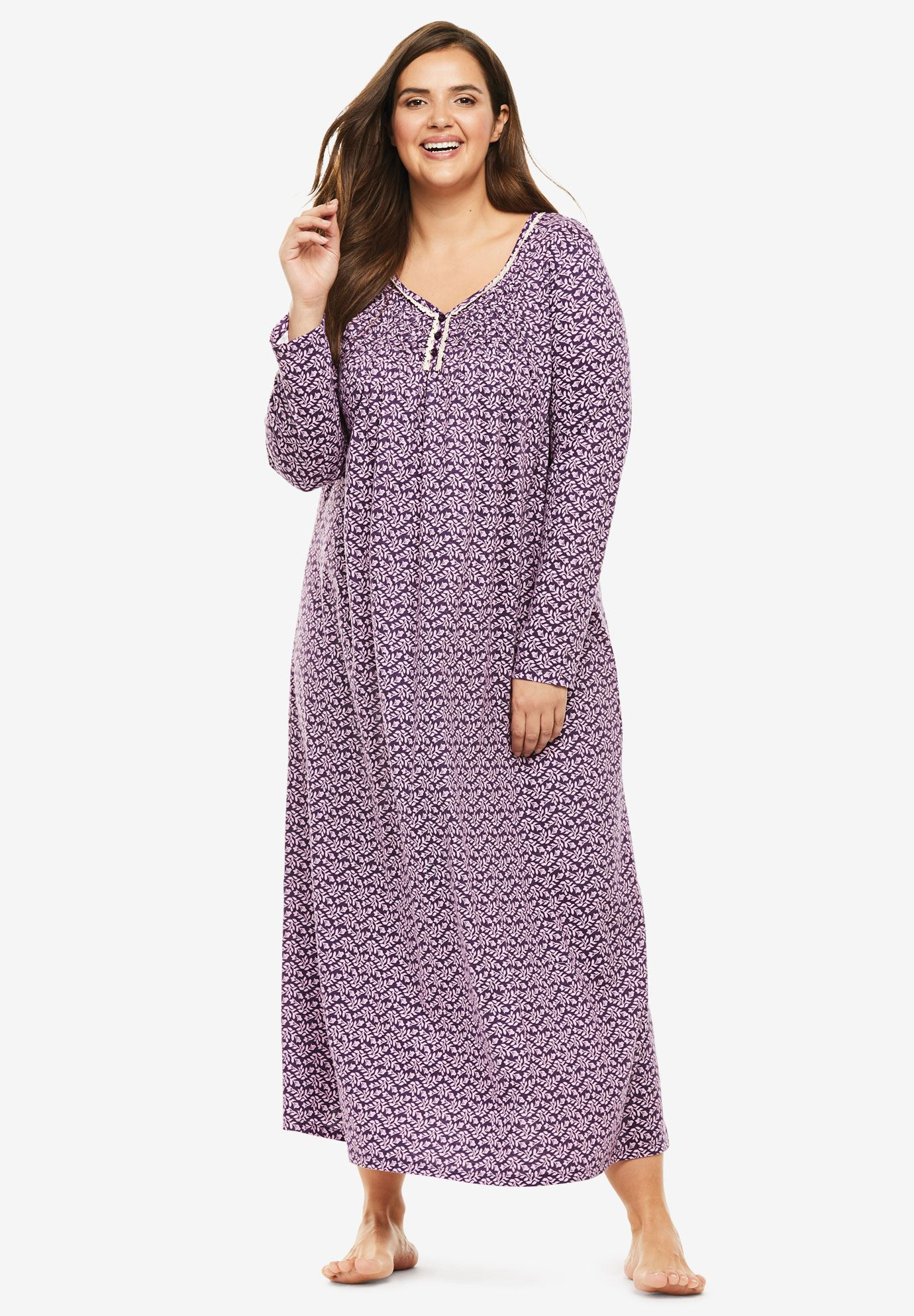 Fit & Flare Sleep Gown | Plus Size Sleep Gowns | Jessica London