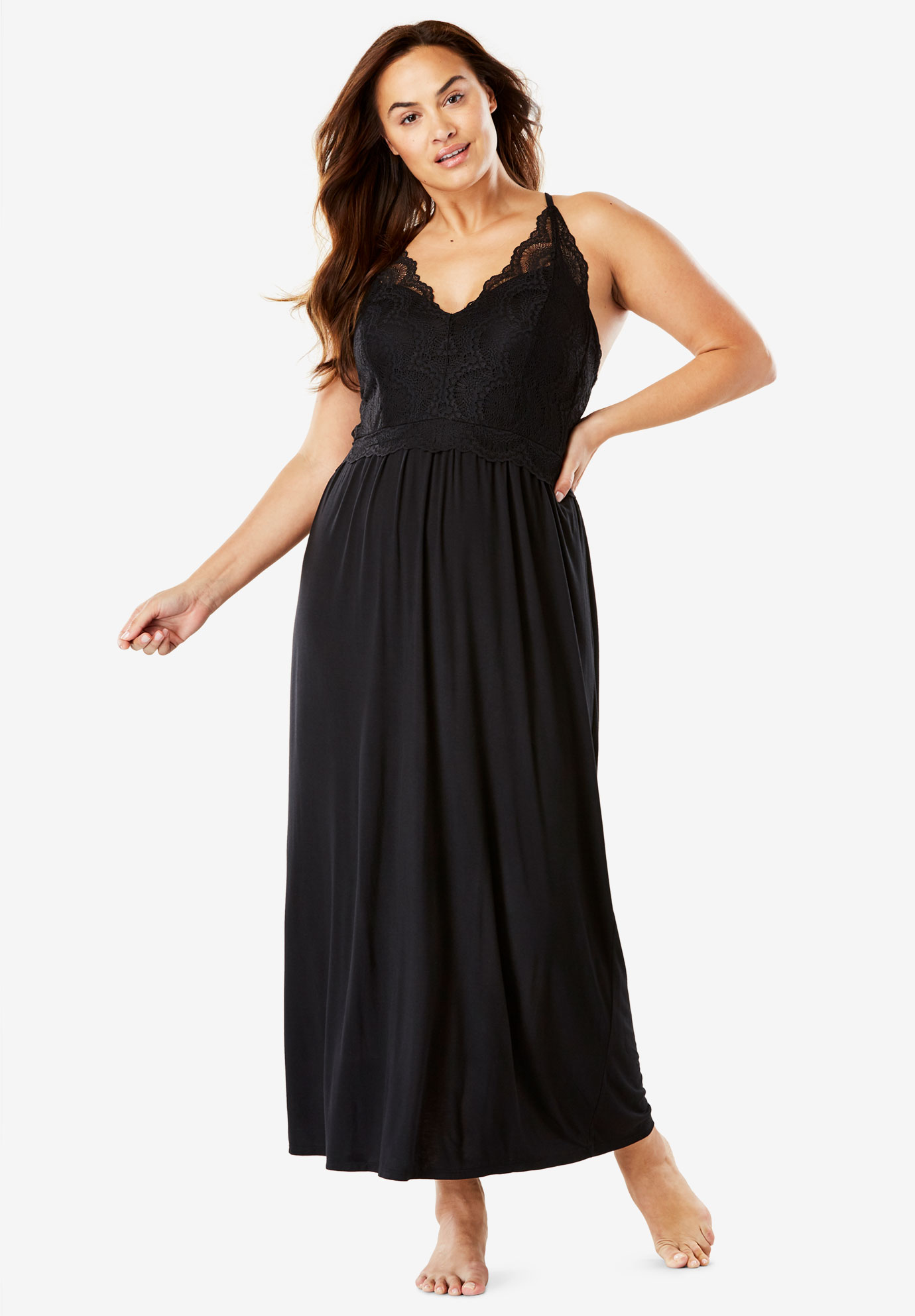 Lace Accented Sleep Gown by Amoreuse®,