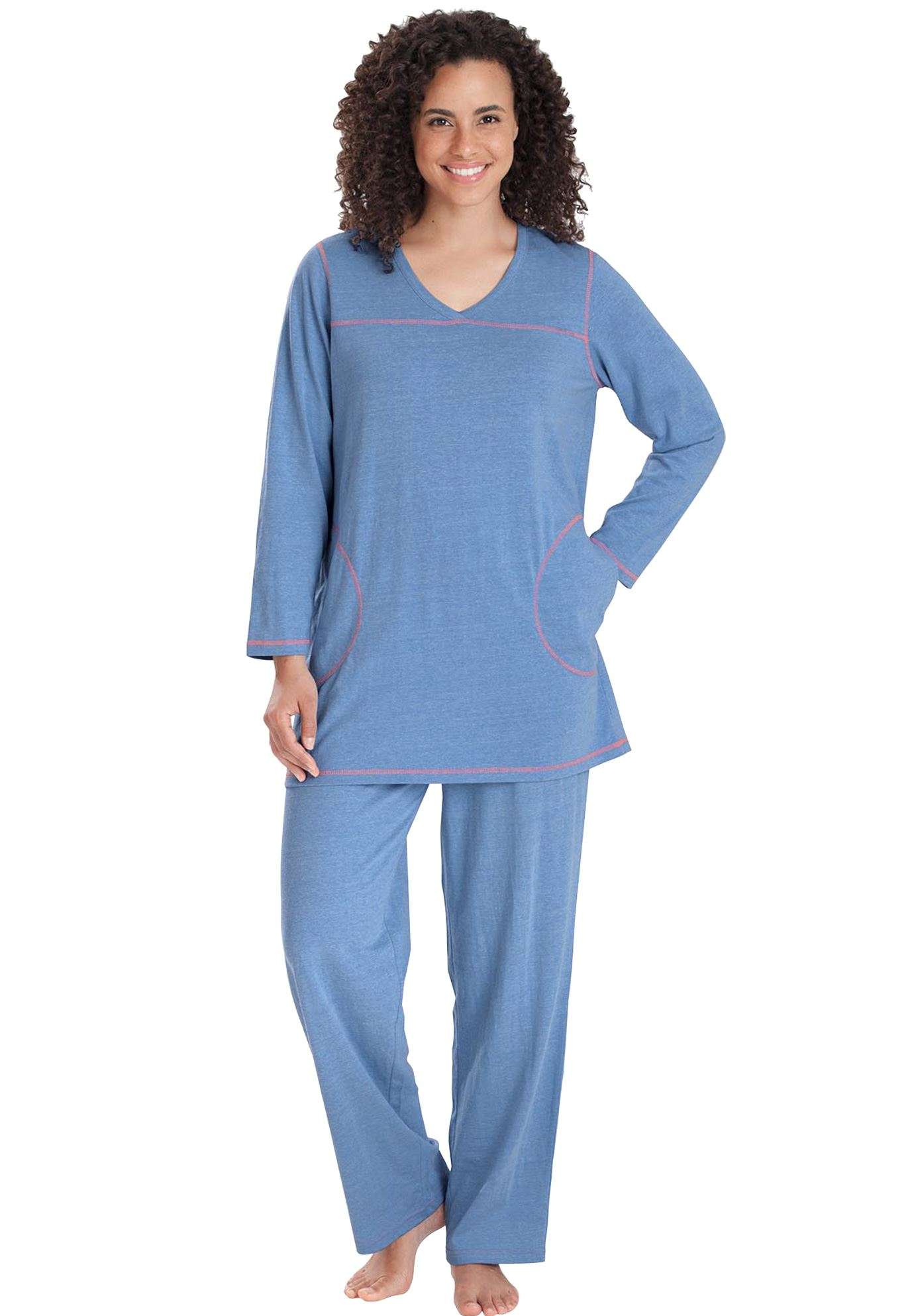 Topstitched PJ Set by Dreams & Co.®,
