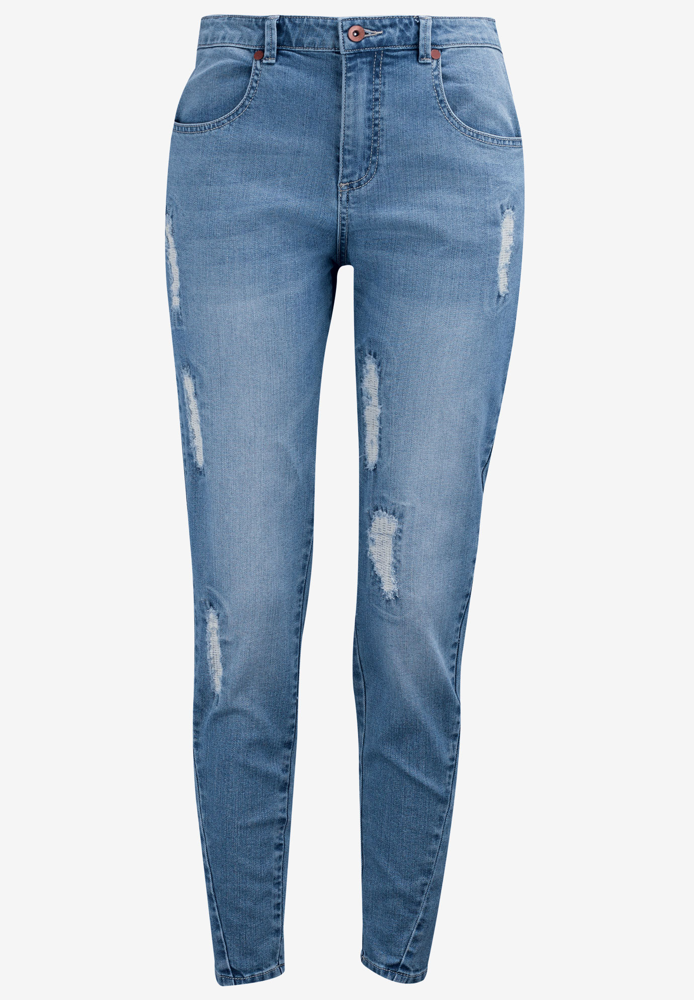 Distressed Girlfriend Jeans,