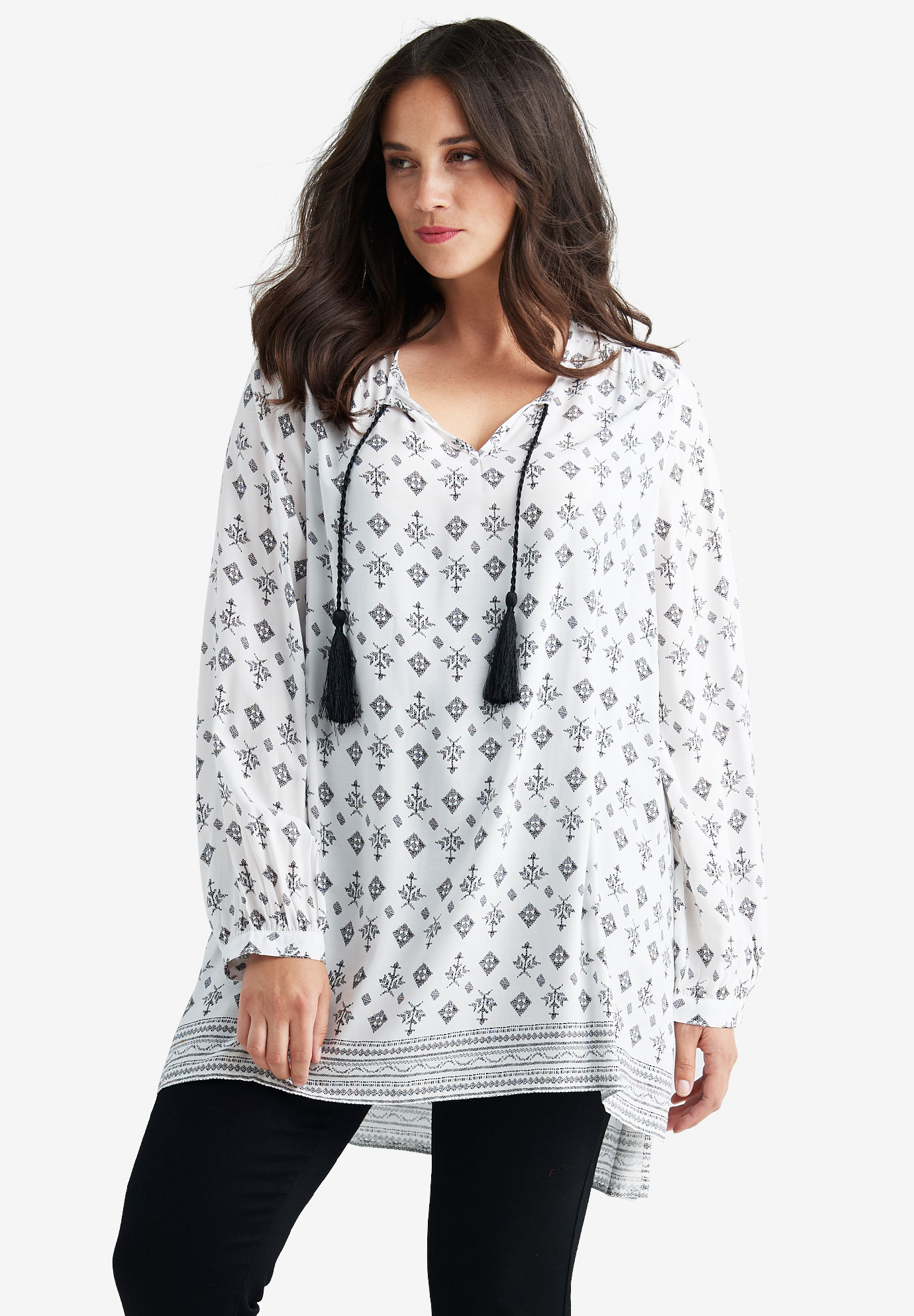 Border Print Tunic by ellos®,
