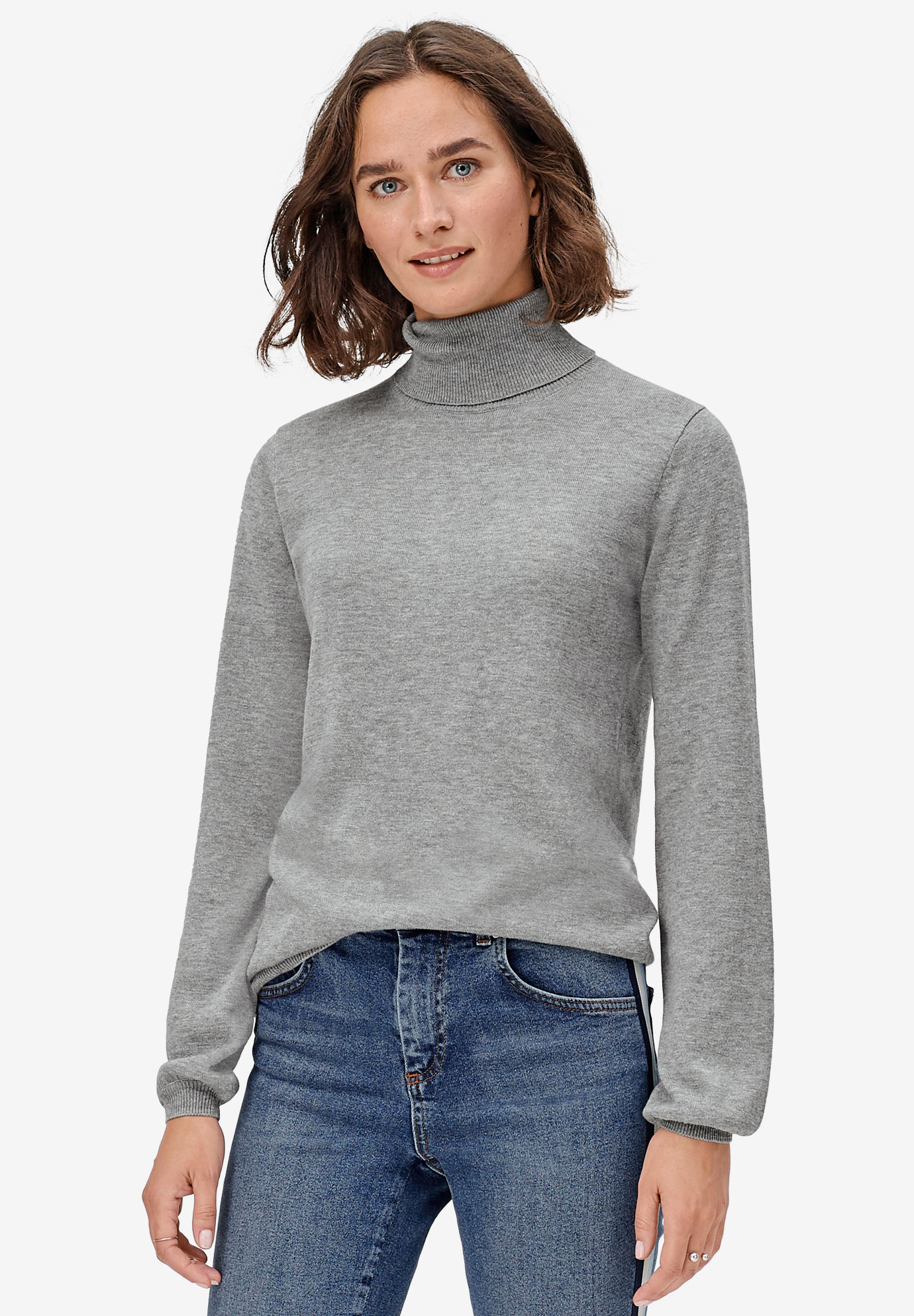 Blouson Sleeve Turtleneck,
