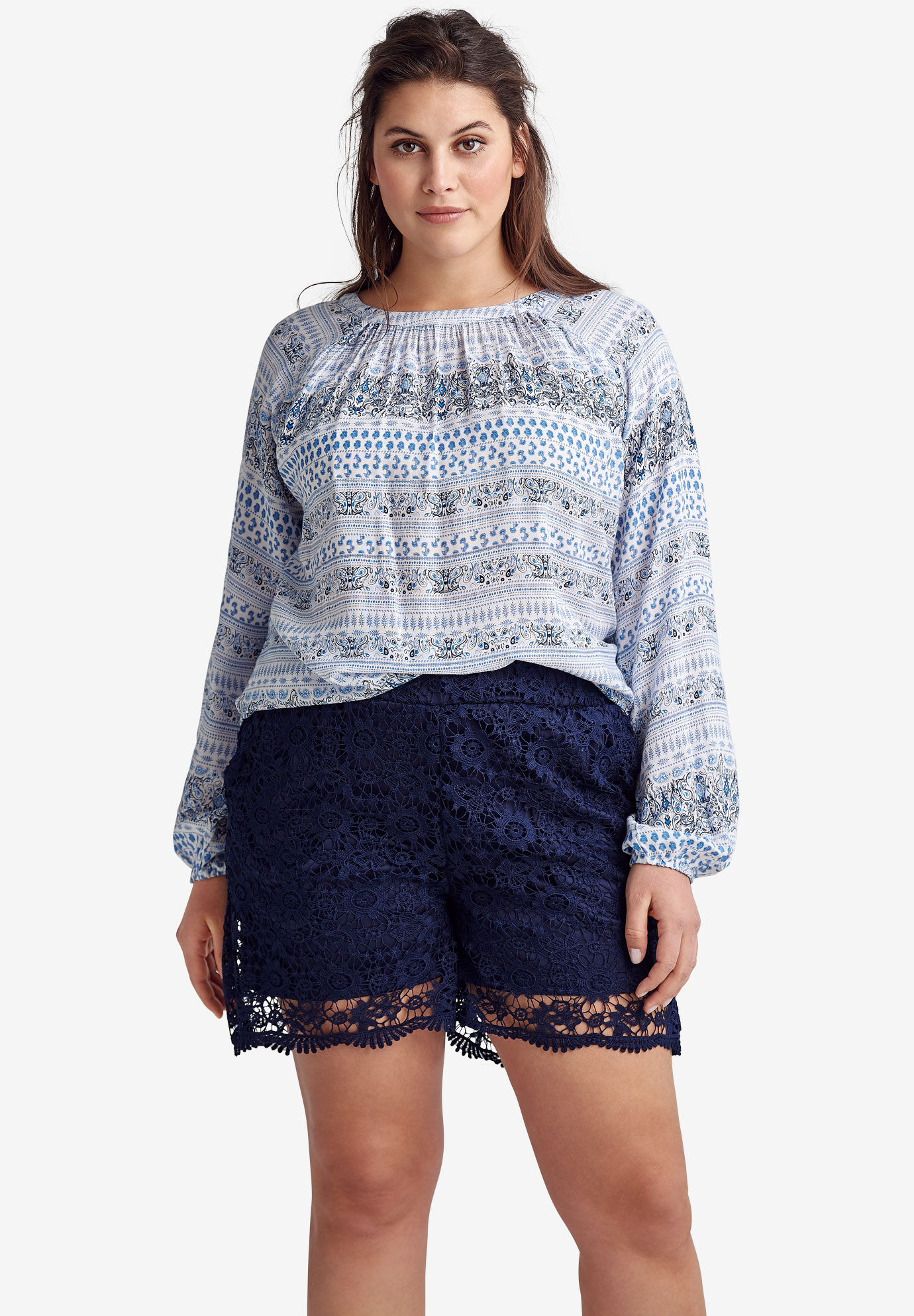 Crochet Lace Shorts by ellos®,