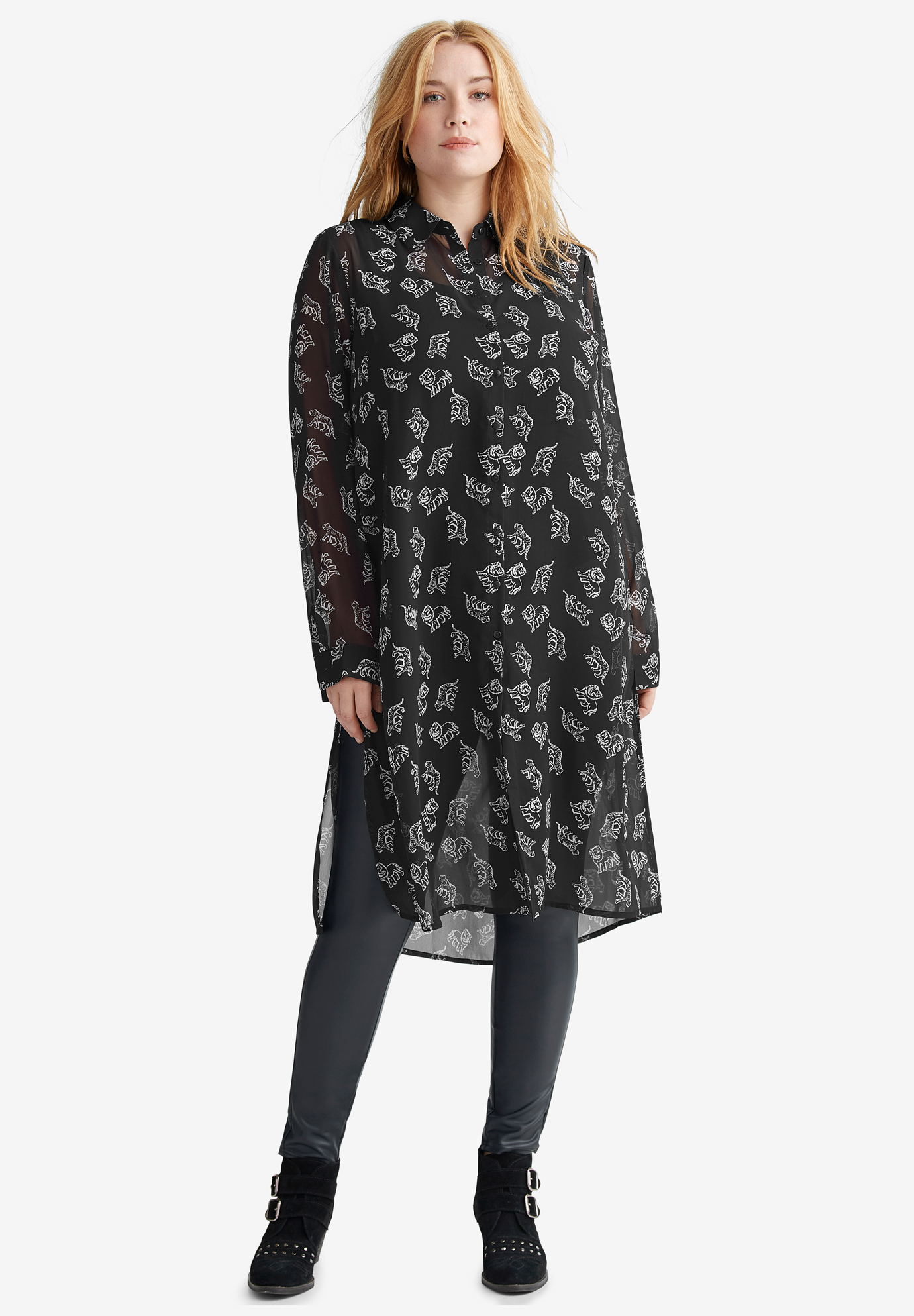 Sheer Long Tunic by ellos®,