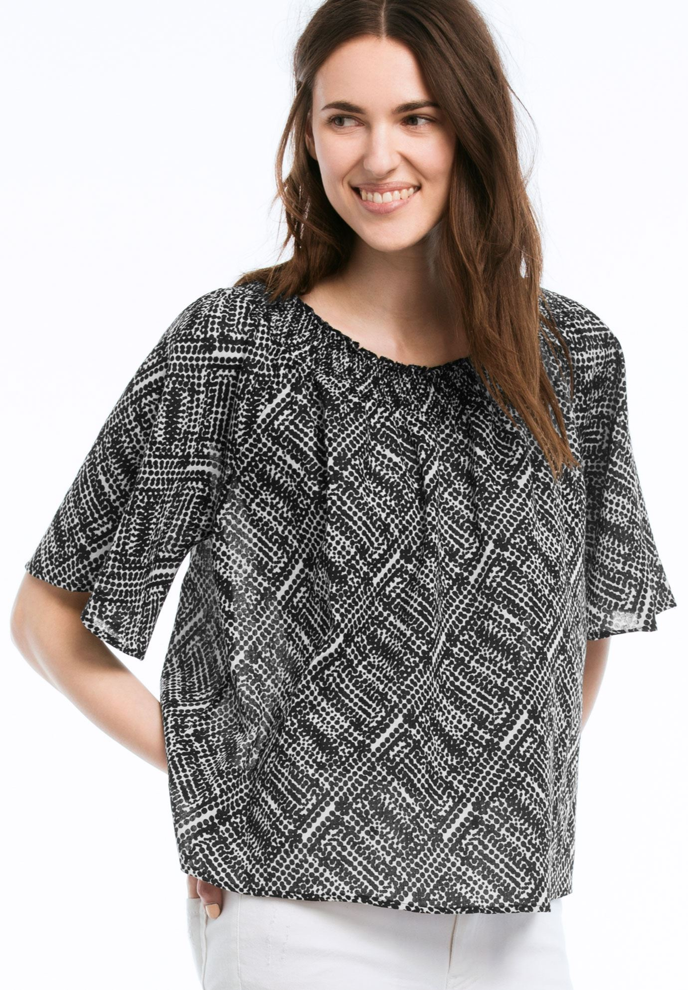 Off The Shoulder Trapeze Blouse by ellos®,