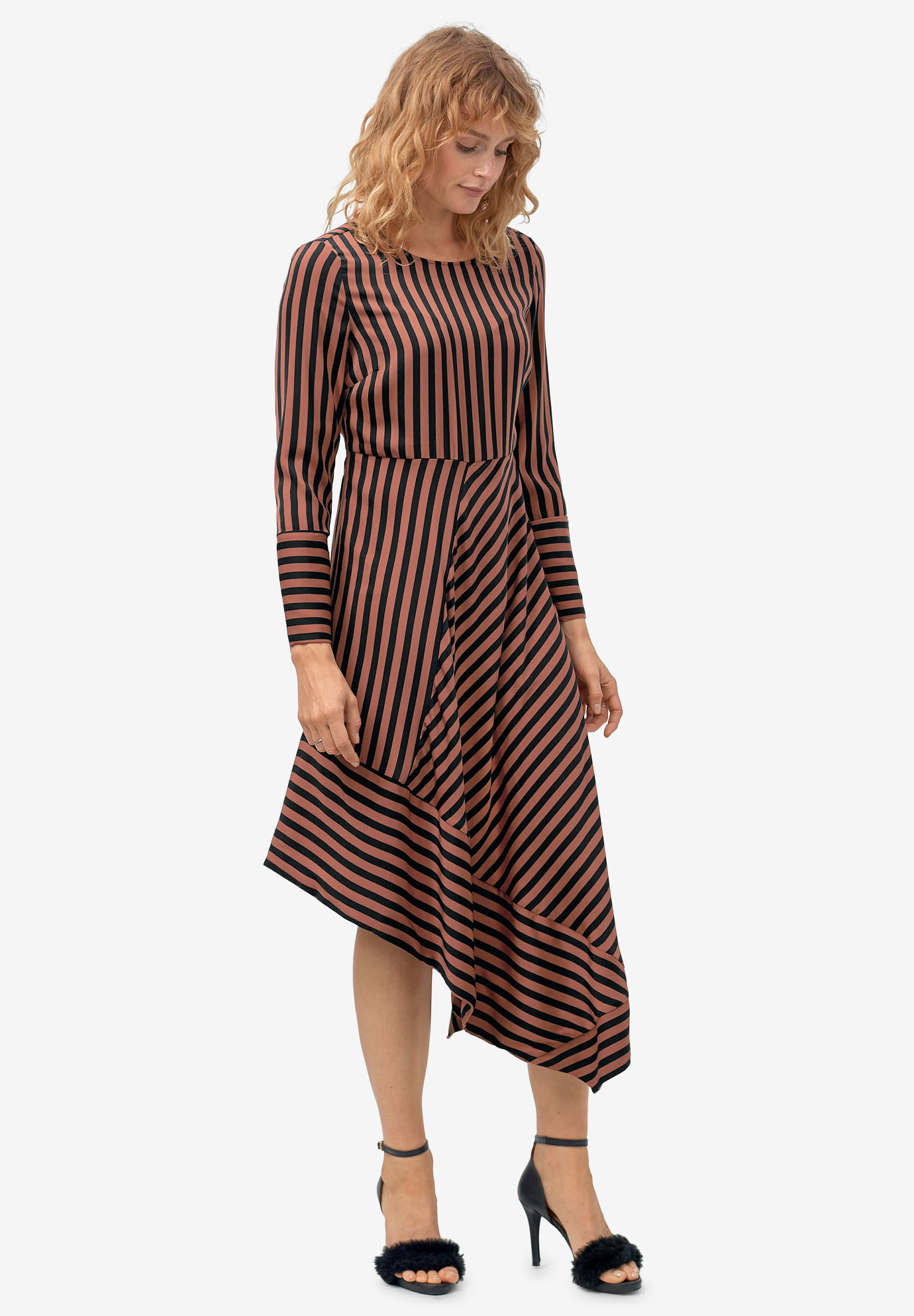 Asymmetrical Striped Dress by ellos®,