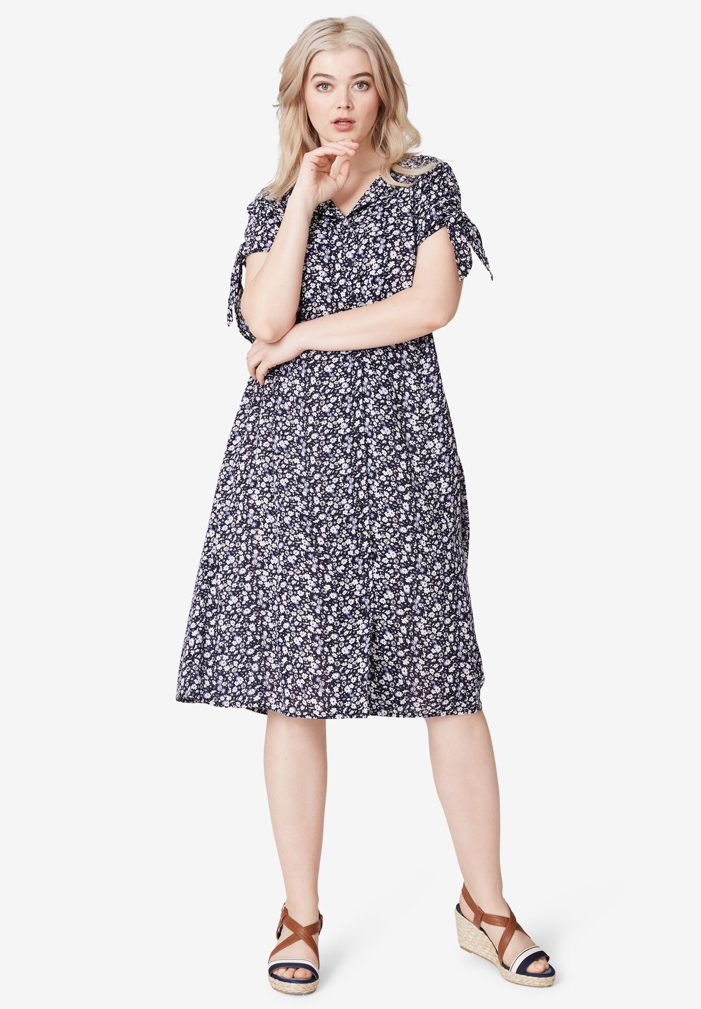 Tie-Sleeve Dress by ellos®,