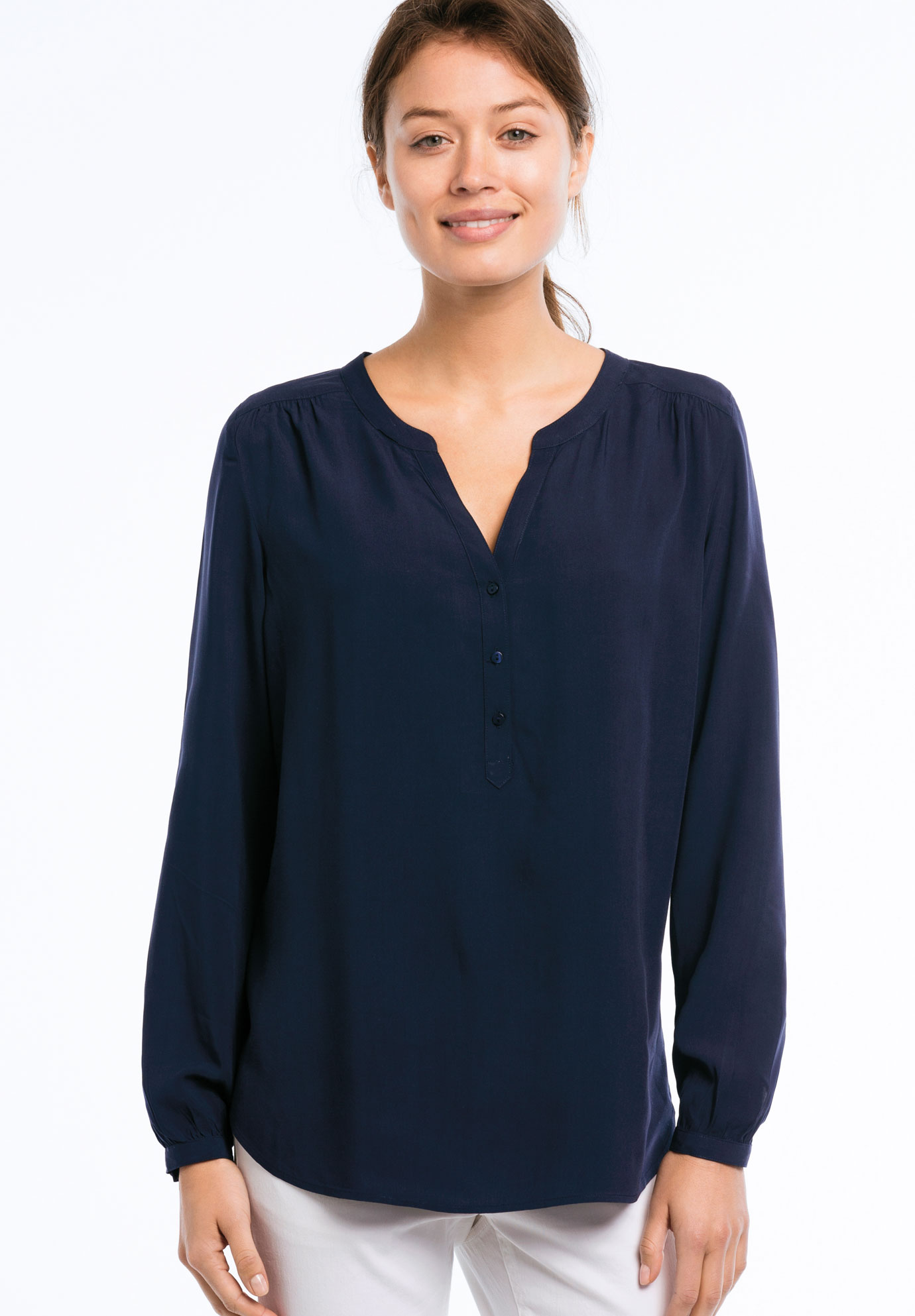 Notch Neck Henley Tunic by ellos®,