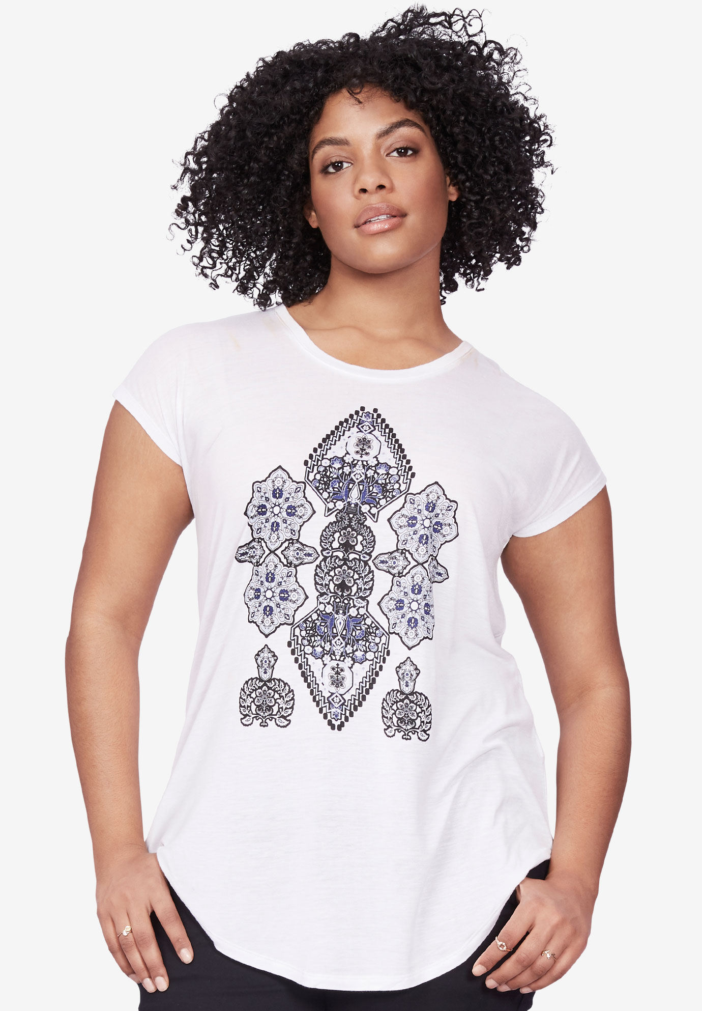 Folkloric Screenprint Tunic by ellos®,