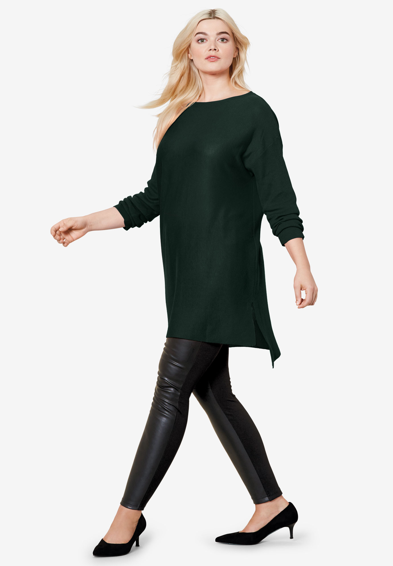High/Low Pullover Sweater Tunic by ellos®,