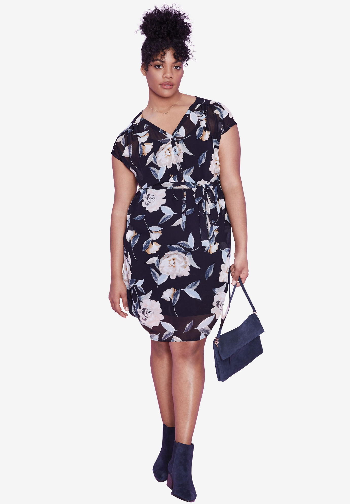 Ava Floral Dress by ellos®,