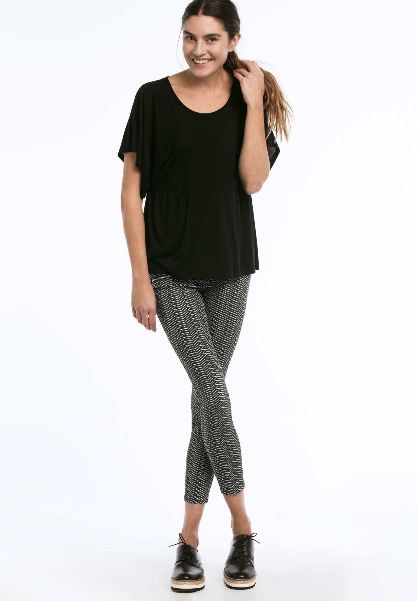 Zip Pocket Twill Jeggings,