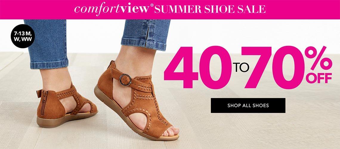 Comfortview summer shoe sale 40-70% off! - SHOP ALL SHOES