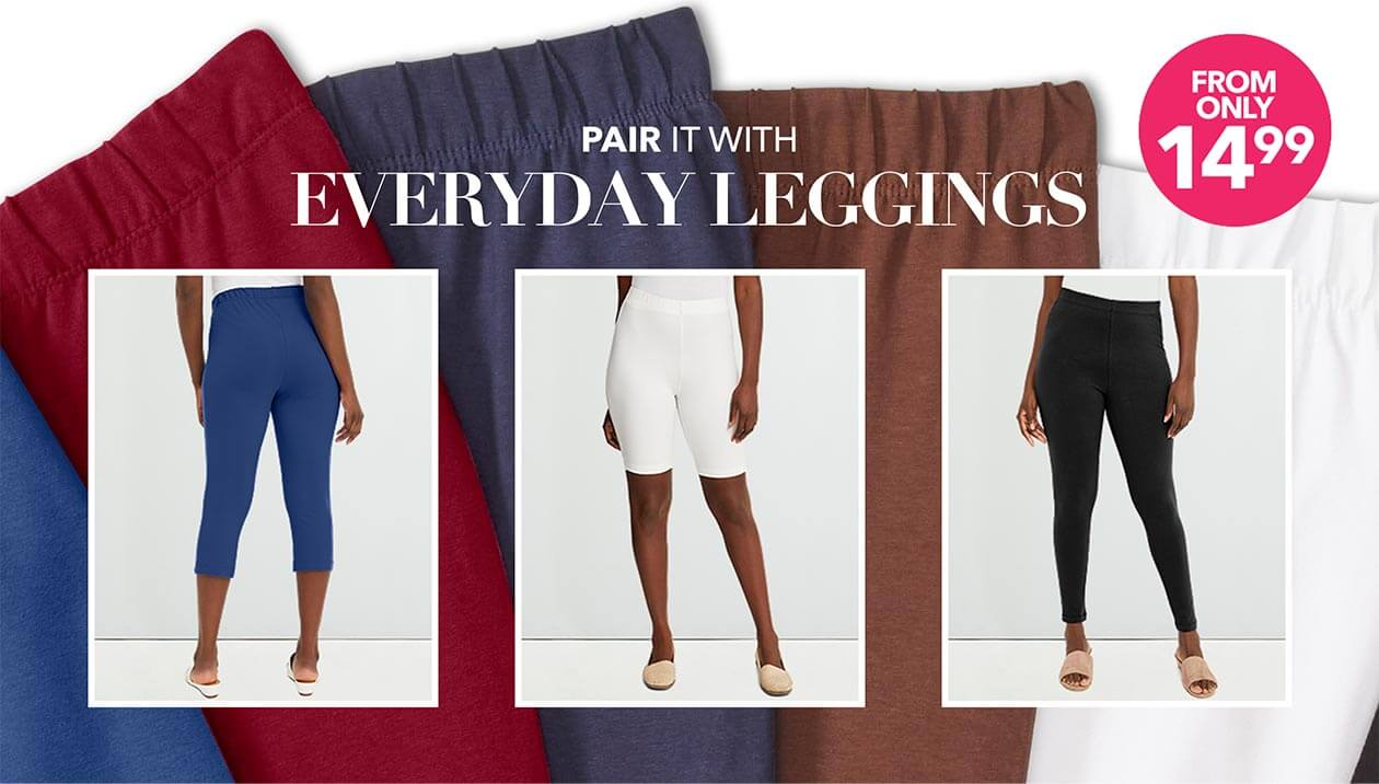 Everyday Leggings - From only $14.99