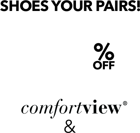 Shoes your pairs 40% off comfortview shoes & boots