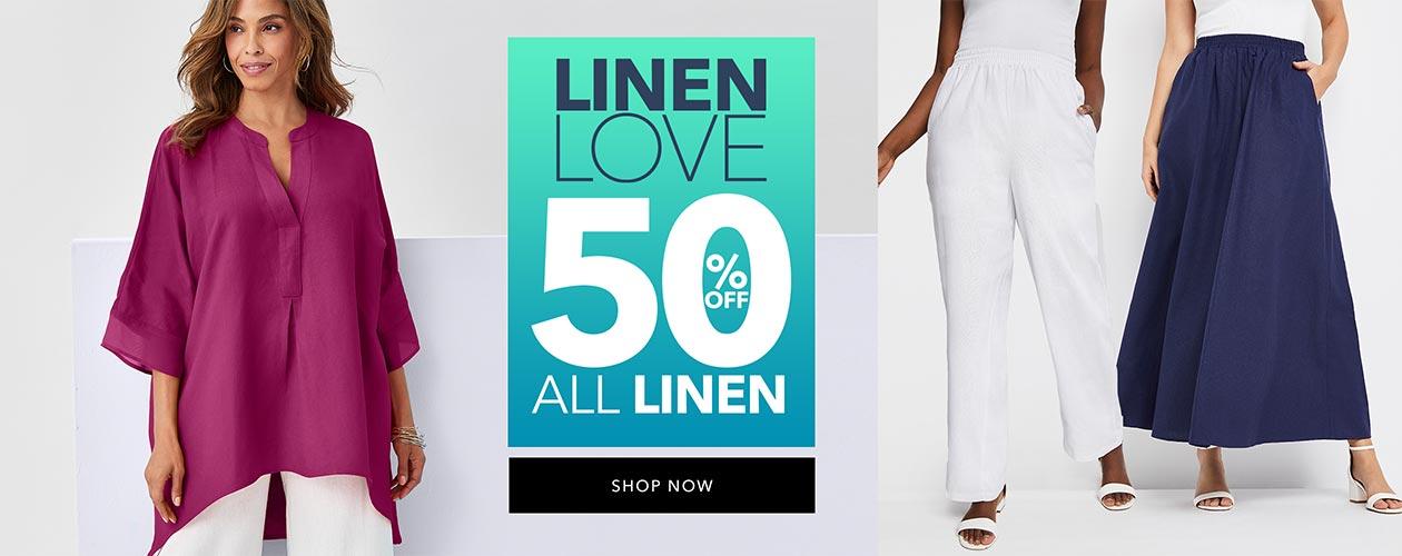 Linen Sale - 50% off all linen - SHOP LINEN