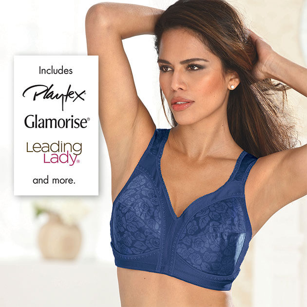Includes Playtex, Glamorise, Leading Lady, and more!