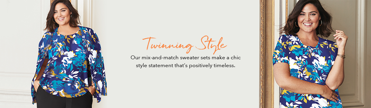 Twinning Style - Our mix-and-match sweater sets make a chic style statement that's positively timeless