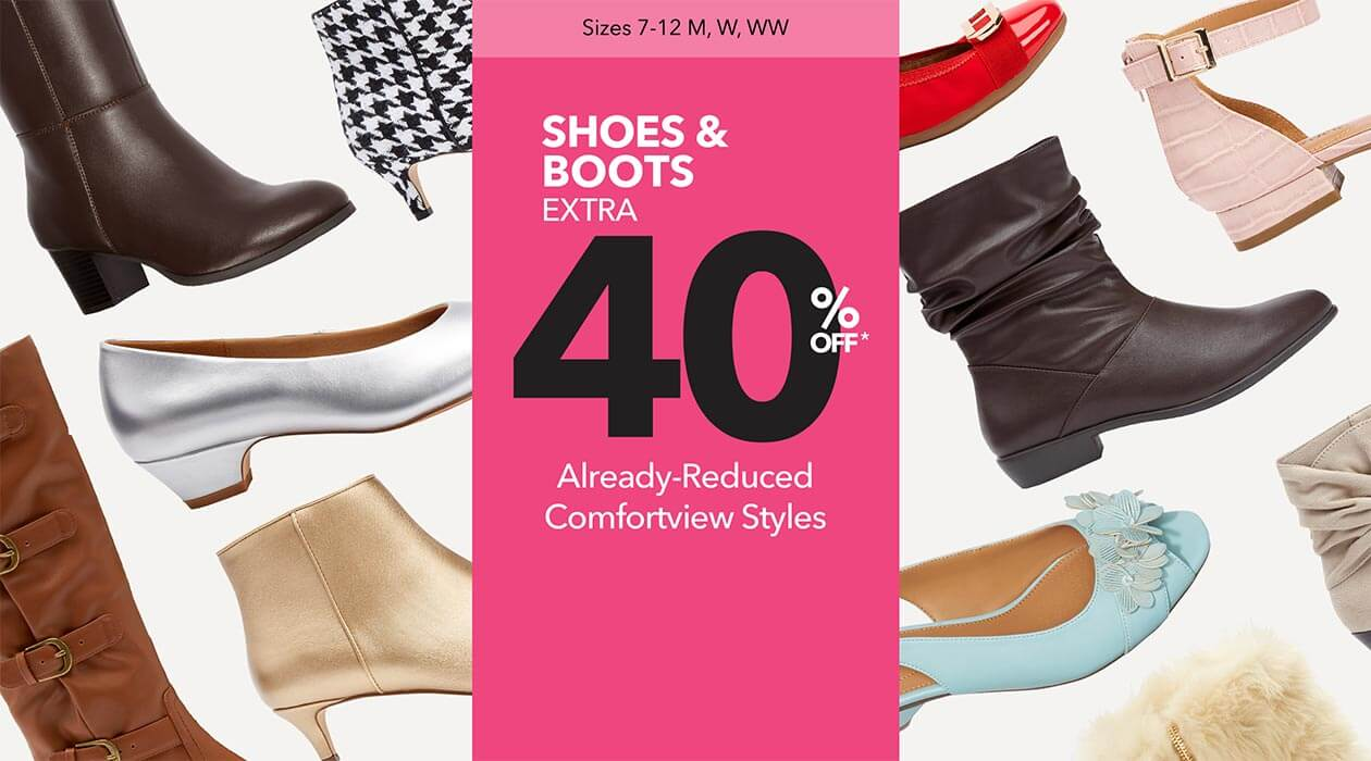 SHOES & BOOTS EXTRA 40% OFF ALREADY REDUCED COMFORTVIEW STYLES
