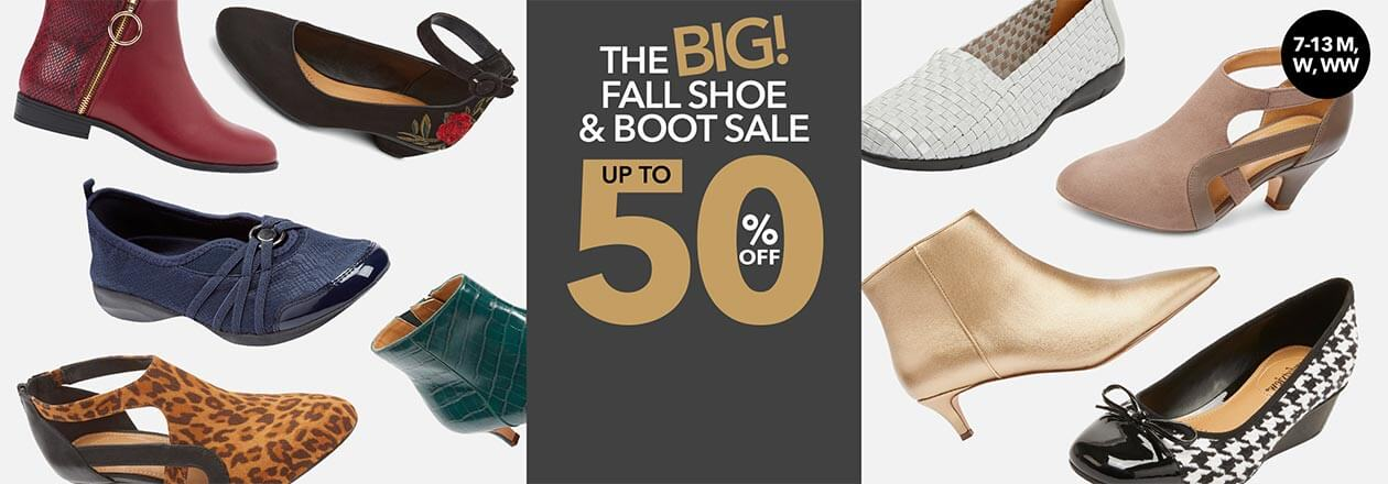 The BIG Fall Shoe and Boot sale