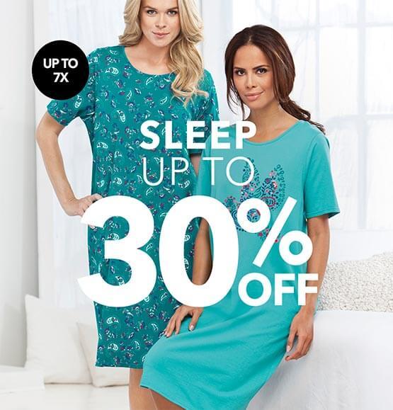 Sleepwear up to 30% off