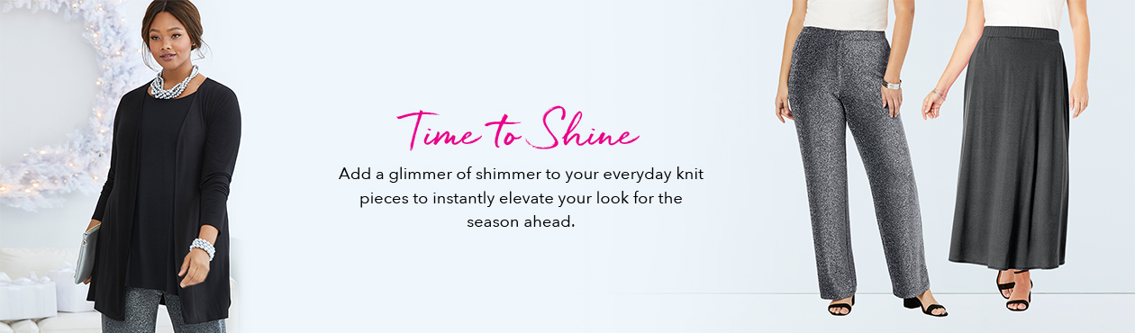 Time to Shine - Add a glimmer of shimmer to your everyday knit pieces to instantly elevate your look for the season ahead