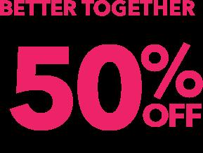 Bras & Panties Sale - Buy 1, get 1 50% off